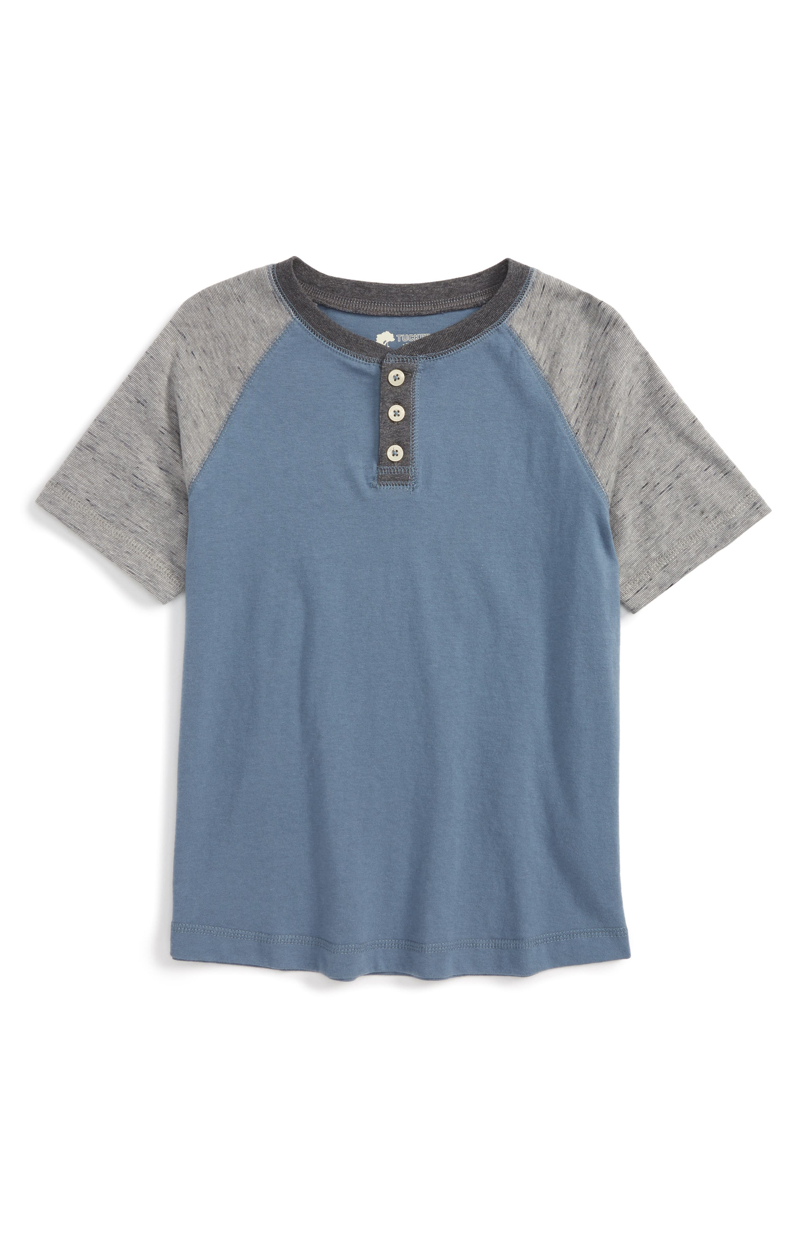 Tucker + Tate Short Sleeve Henley (Toddler Boys & Little Boys)
