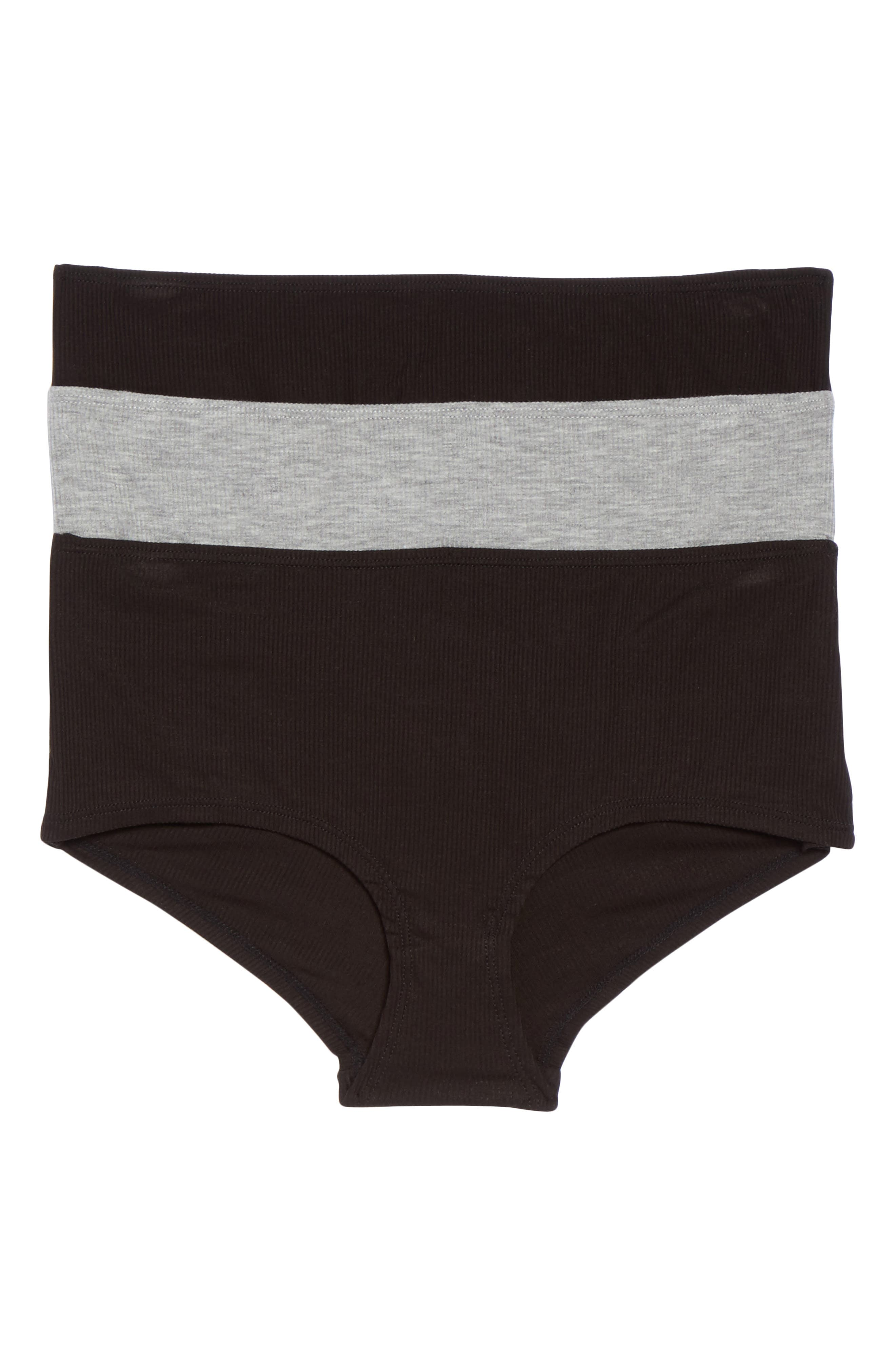 Honeydew 3-Pack Rib Knit Hipster Briefs