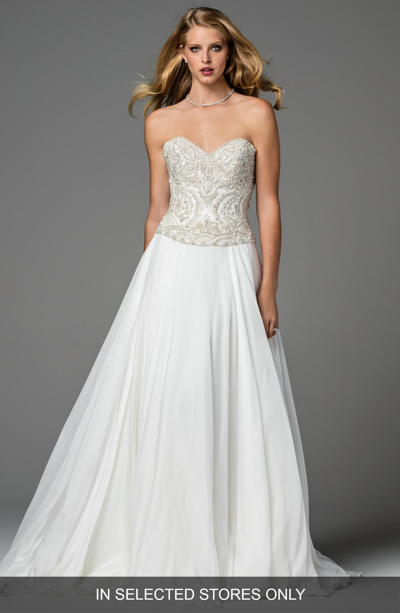 Watters Mayne Corset Organza Gown (In Selected Stores Only)