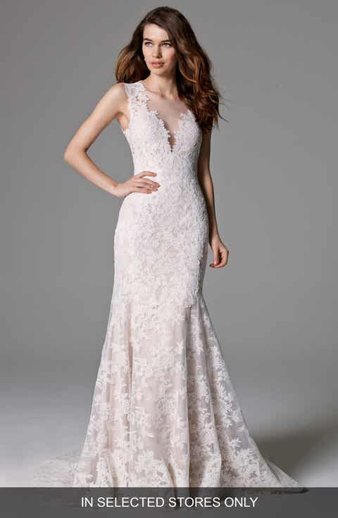 watters ashland illusion lace mermaid dress in stores