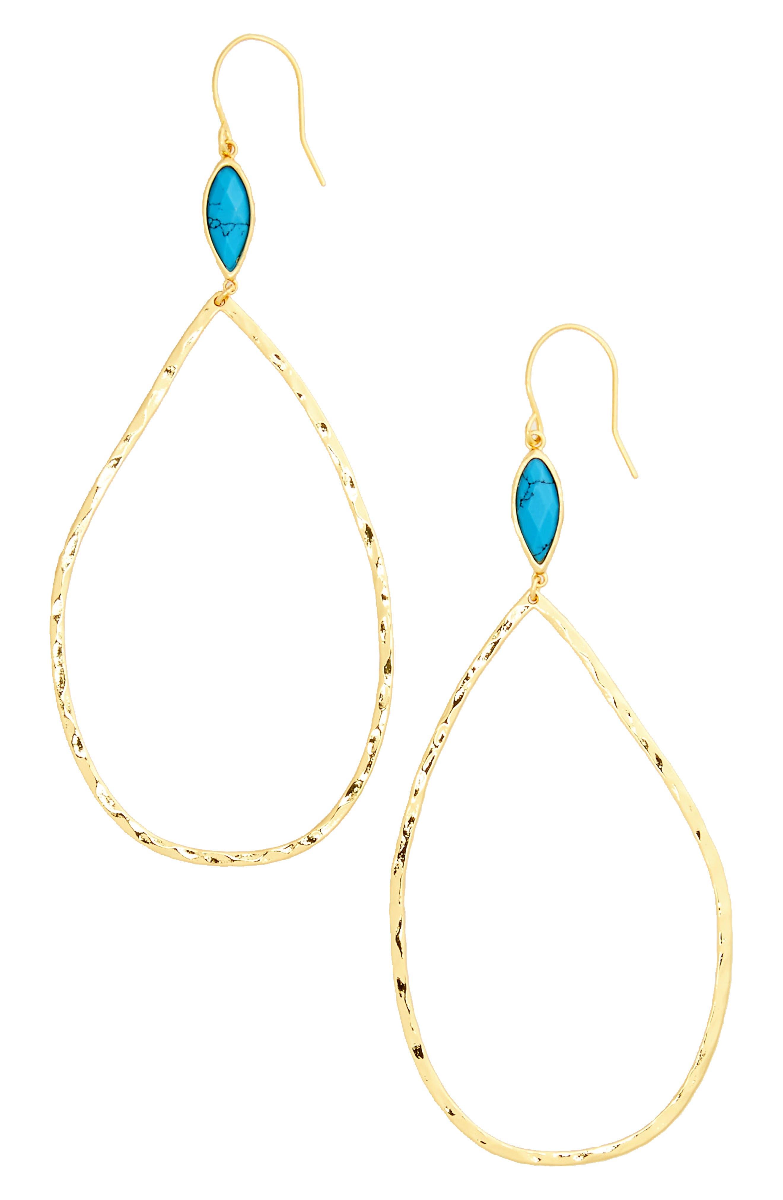 Alternate Image 2  - gorjana Lola Semiprecious Stone Drop Earrings