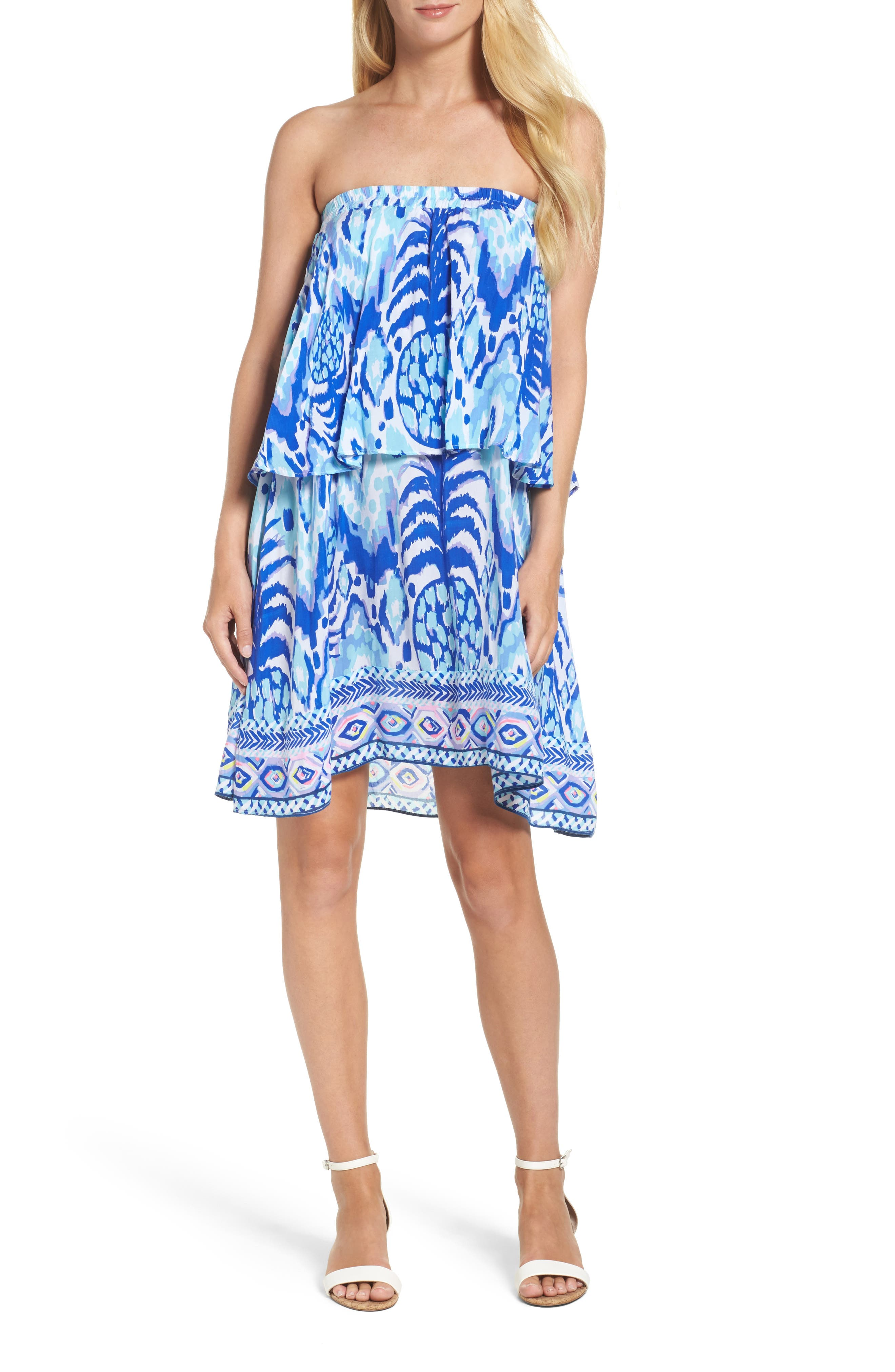 Lilly Pulitzer® Quincy Print Strapless Dress
