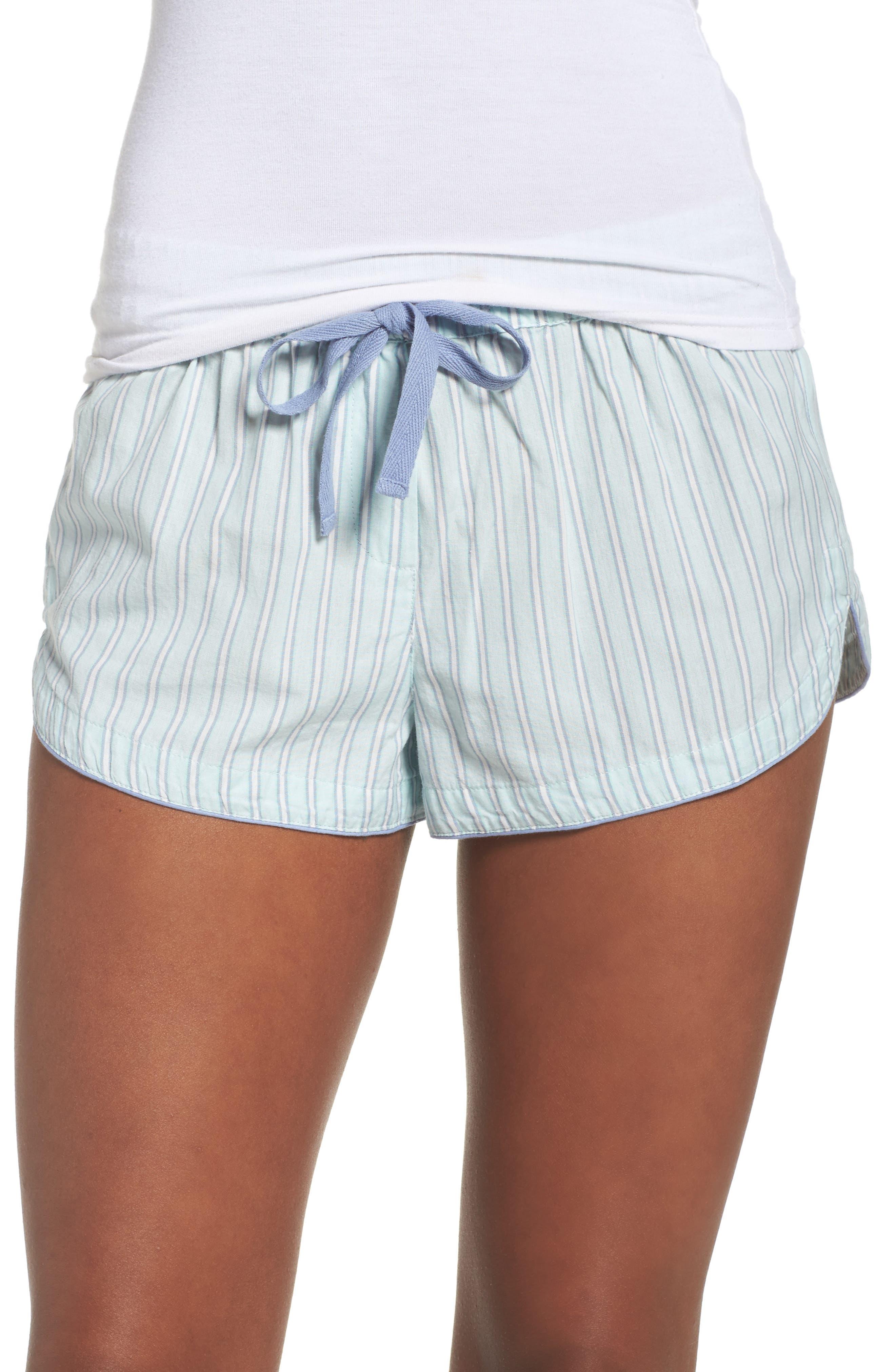 Topshop Stripe Drawstring Pajama Shorts