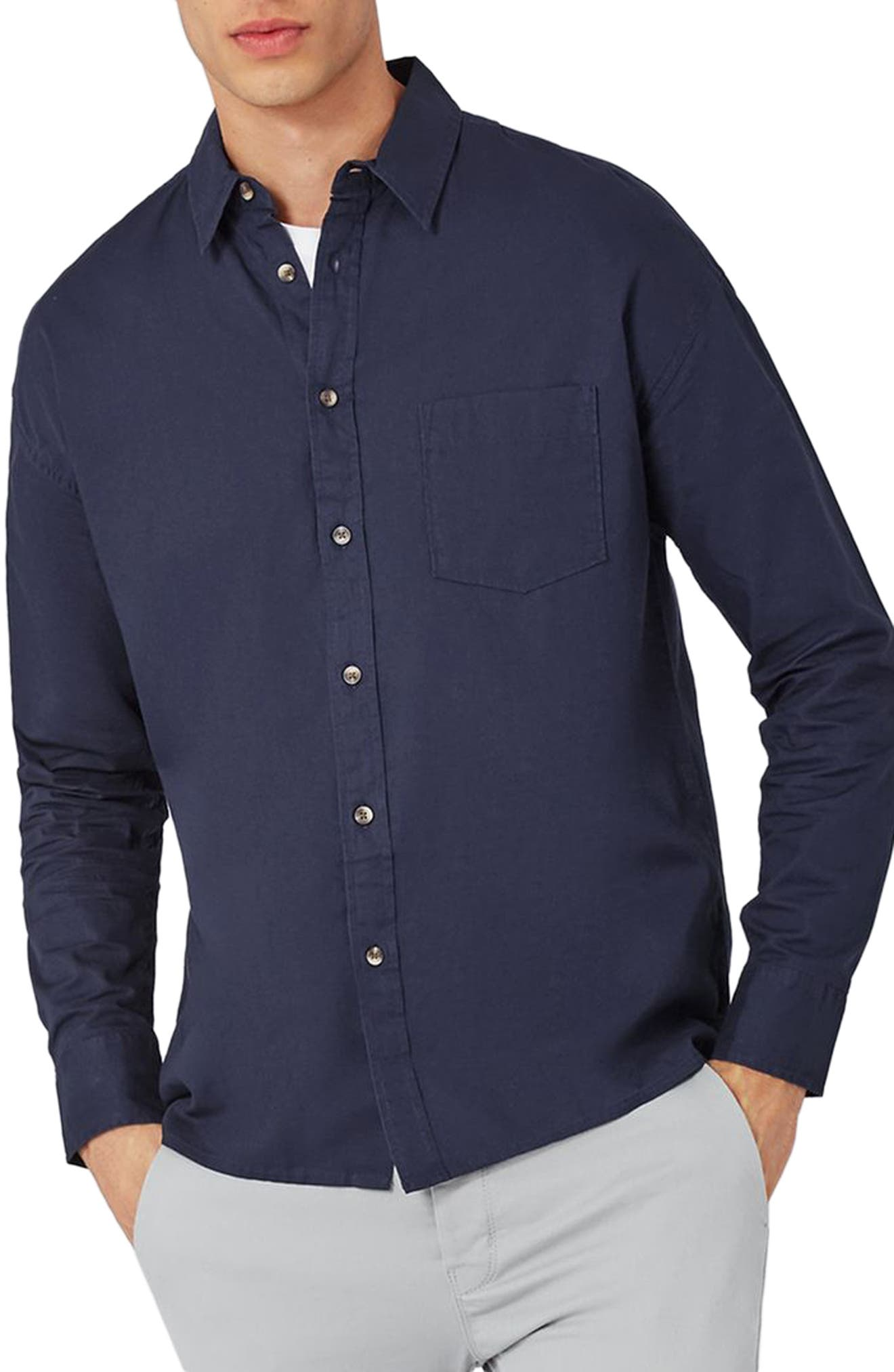 Topman Slim Fit Summer Oxford Shirt