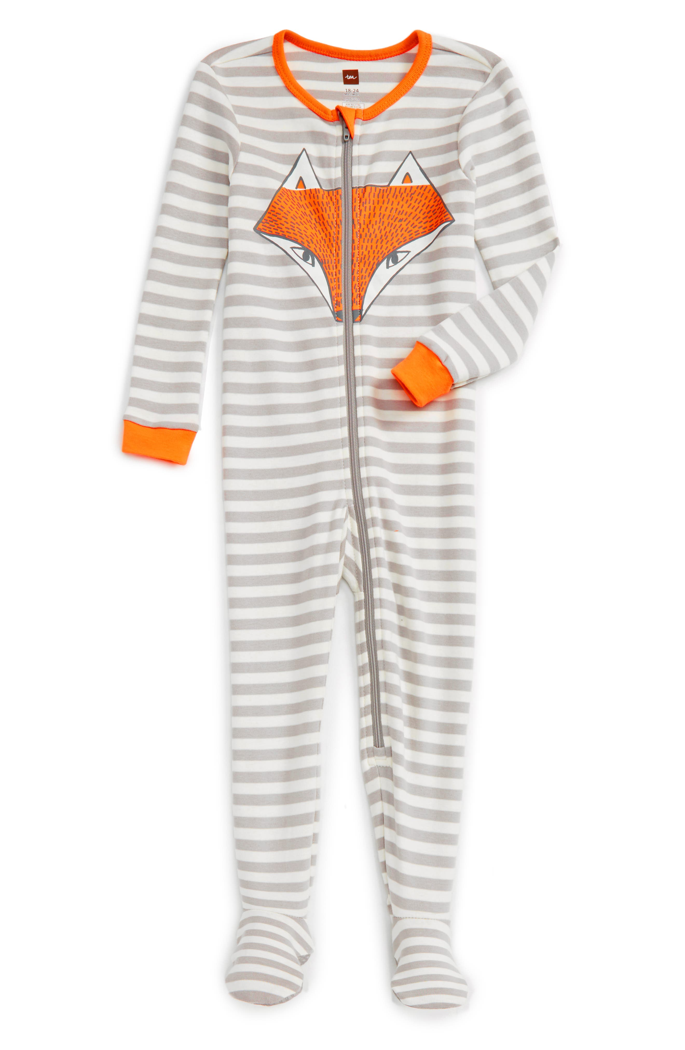 Tea Collection Fox Fitted One-Piece Pajamas (Baby Boys)
