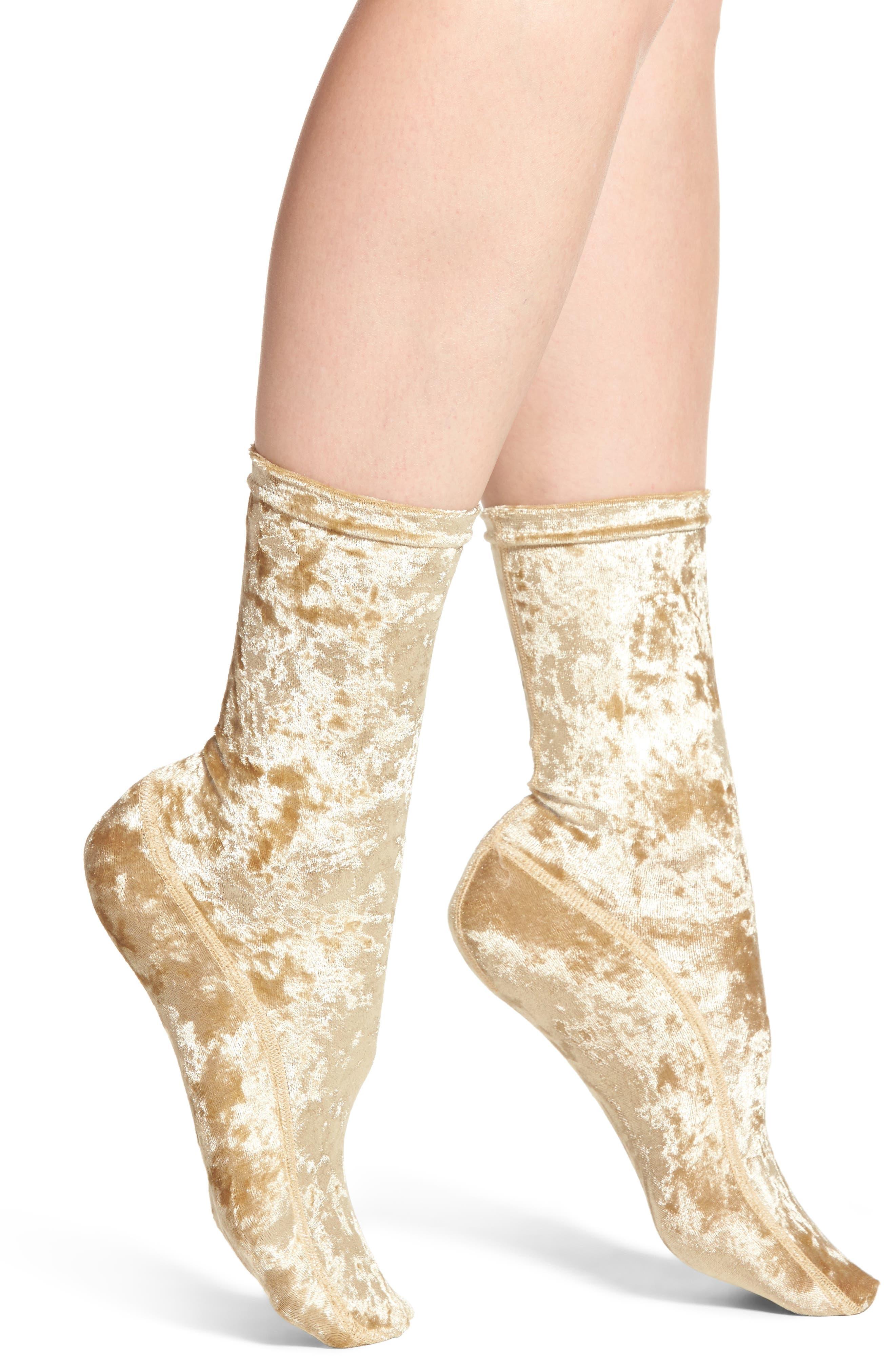 Nordstrom Crushed Velvet Trouser Socks