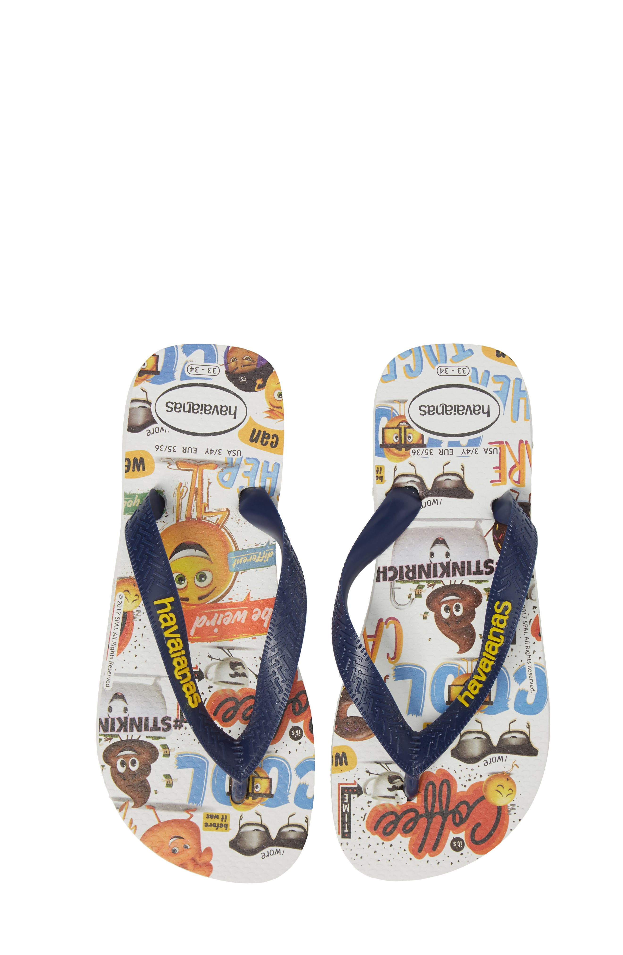 Havaianas Emoji Flip Flop (Toddler & Little Kid)