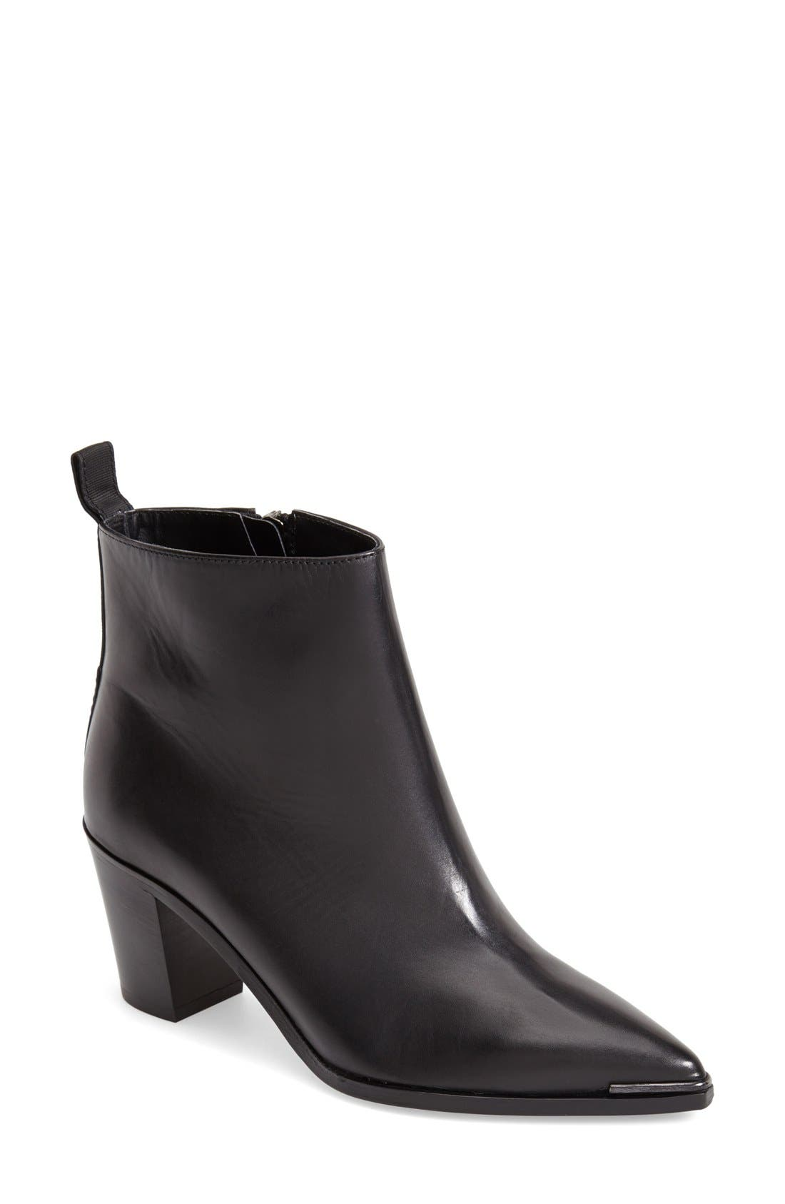Alternate Image 1 Selected - ACNE Studios 'Loma' Pointy Toe Leather Bootie (Women)