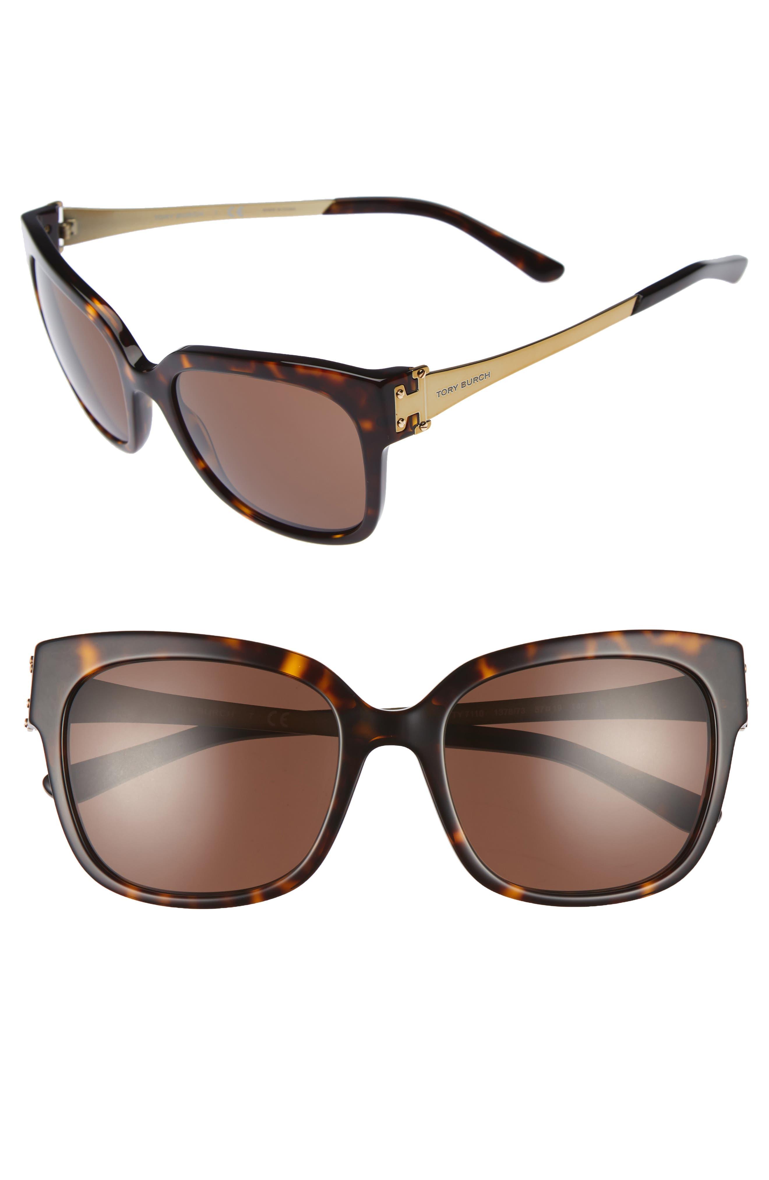 Tory Burch 57mm Sunglasses