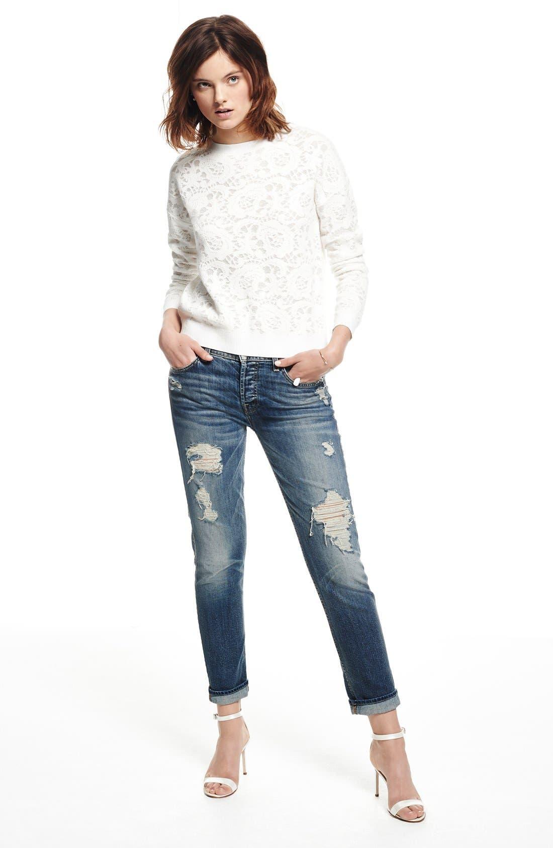 Alternate Image 5  - 7 For All Mankind® 'Josefina' Boyfriend Jeans (Red Cast Heritage Blue)