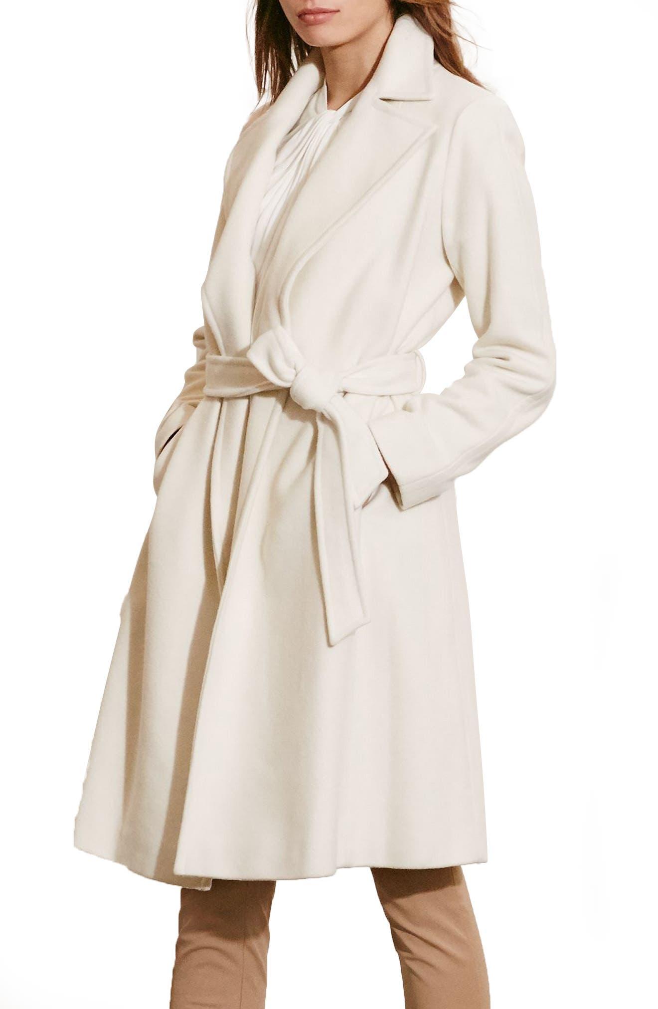 Main Image - Lauren Ralph Lauren Wool Blend Wrap Coat (Regular & Petite) (Online Only)