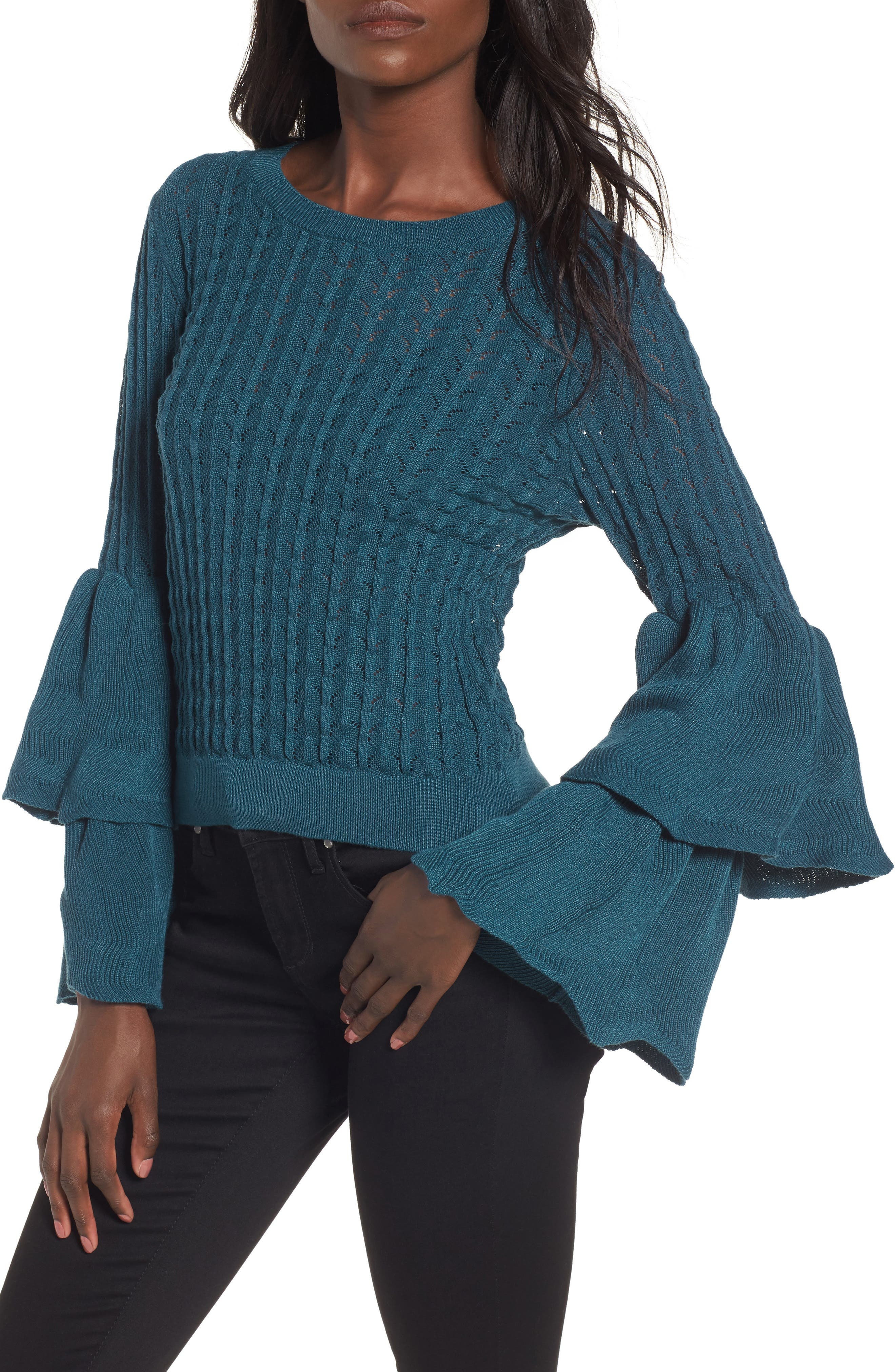 devlin Molly Ruffle Sweater