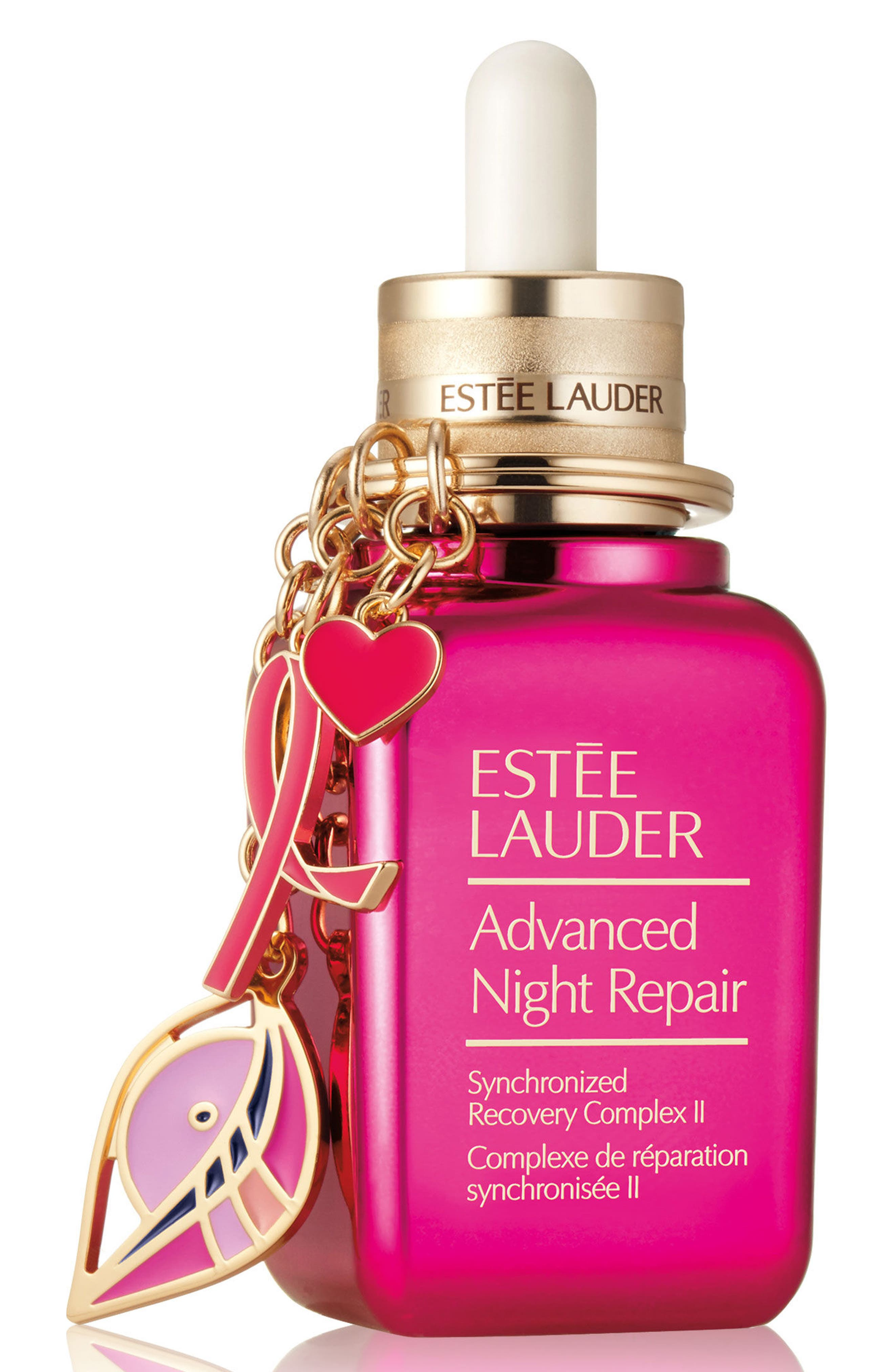 Estée Lauder Advanced Night Repair Synchronized Recovery Complex II & Pink Ribbon Key Chain (Limited Edition)