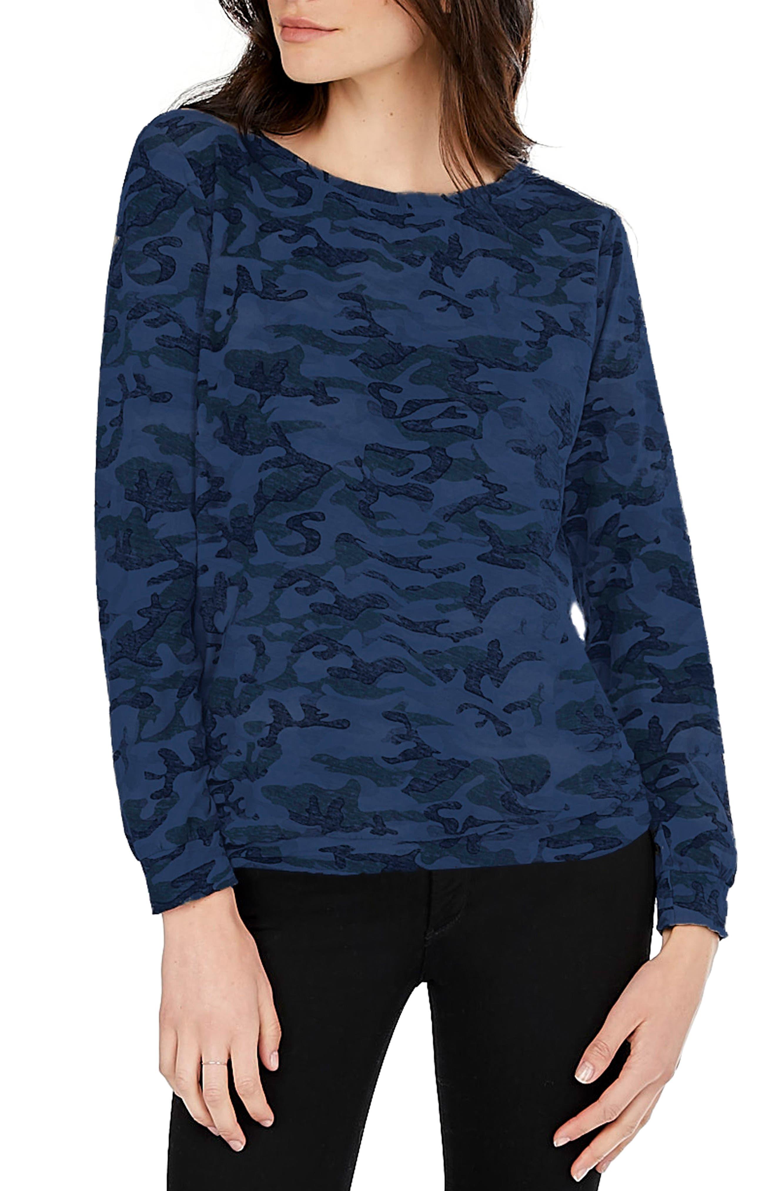 Michael Stars Camo Print Sweatshirt