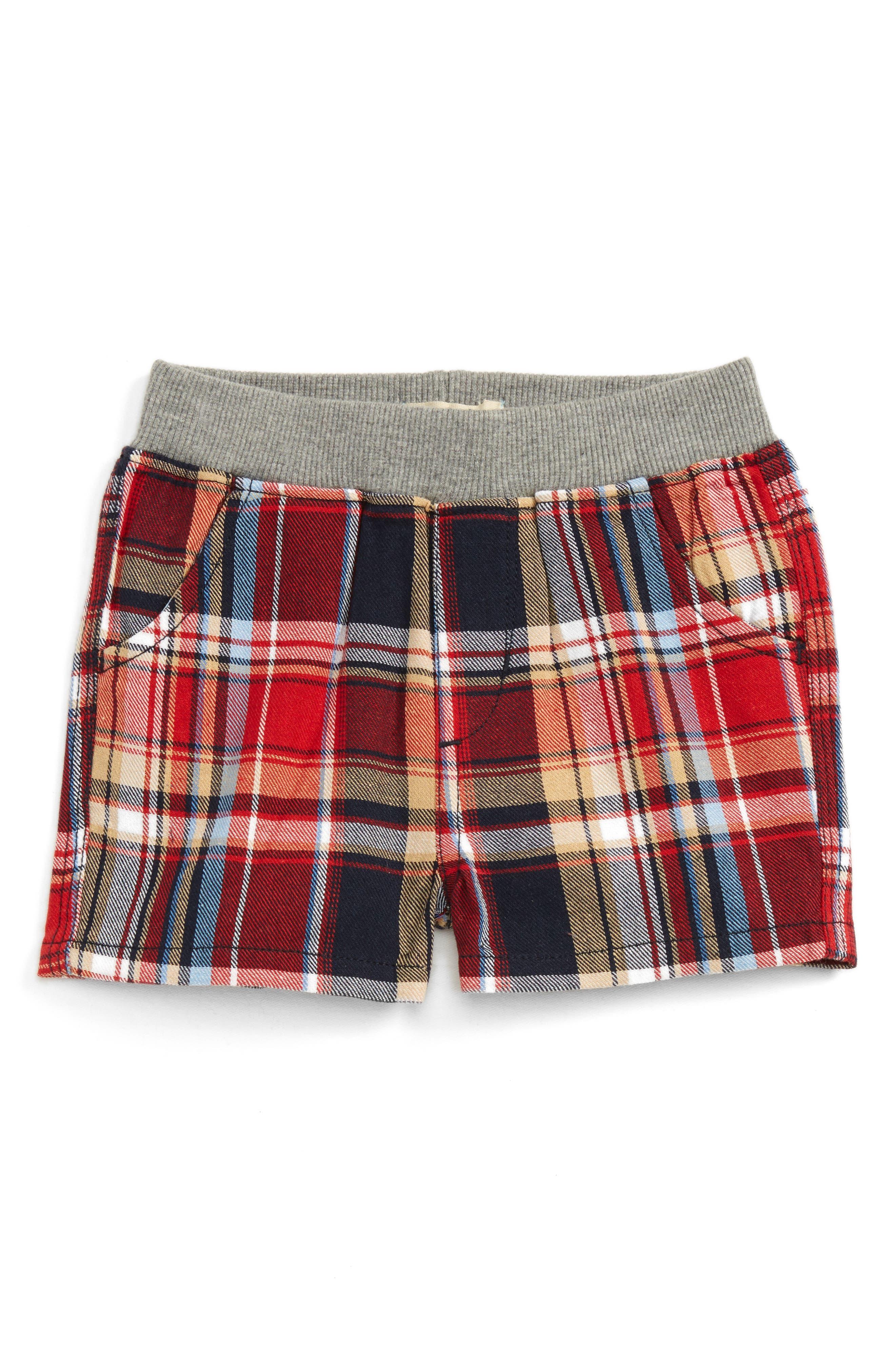 Peek Flag Plaid Shorts (Baby Boys)