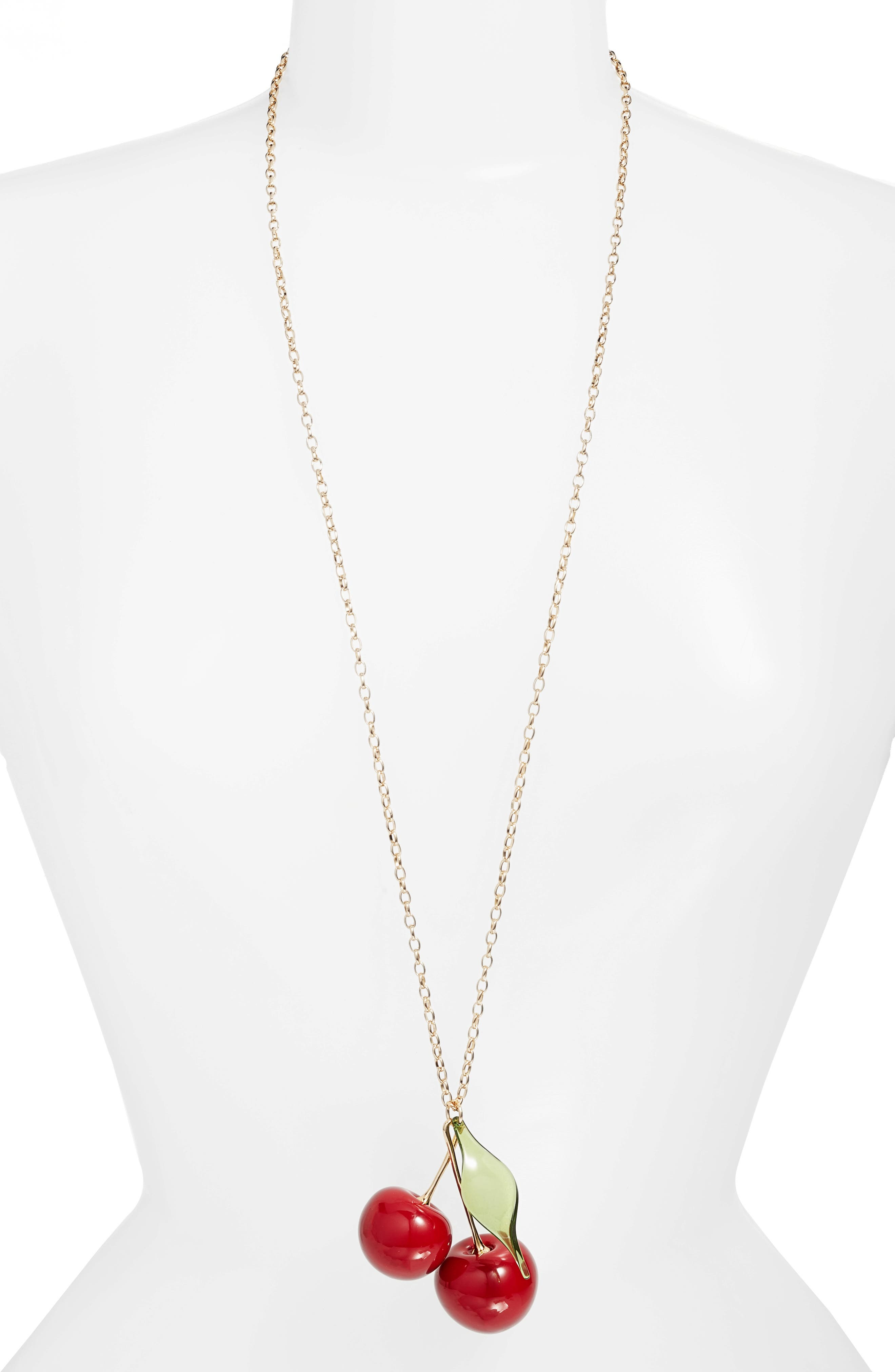 kate spade new york ma cherie cherry pendant necklace