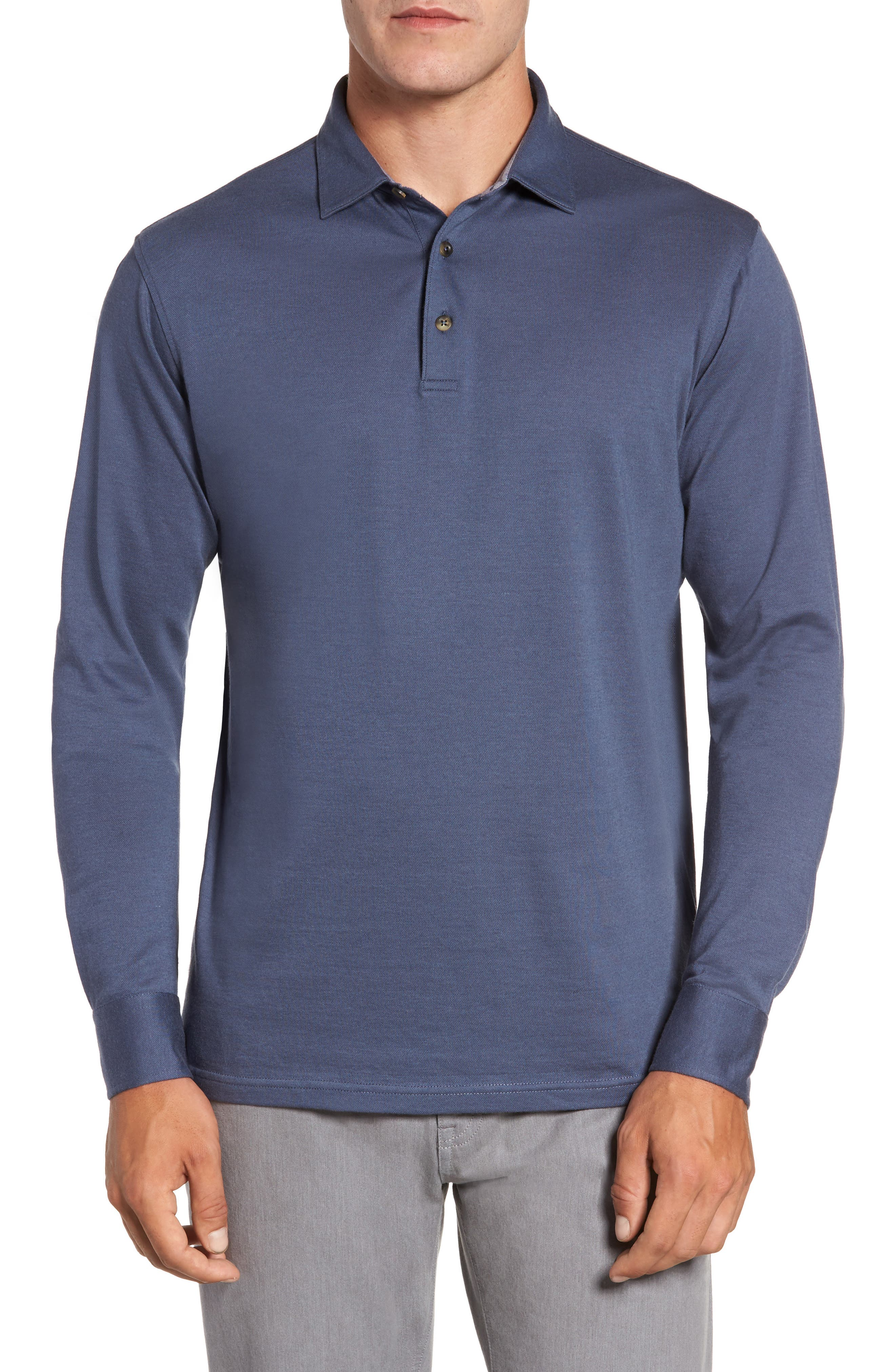 Peter Millar Banff Cotton & Cashmere Polo