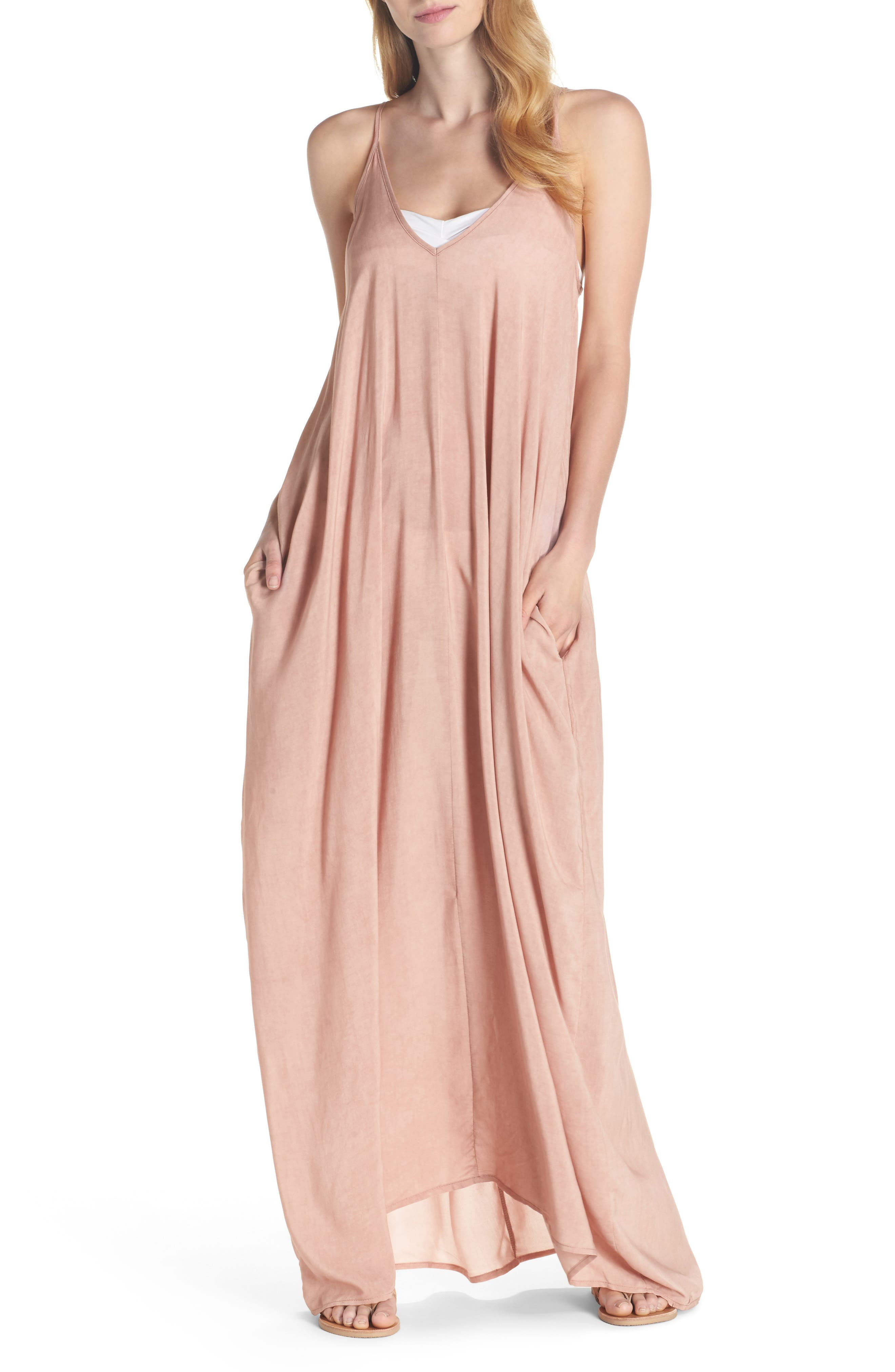 Elan V-Back Cover-Up Maxi Dress