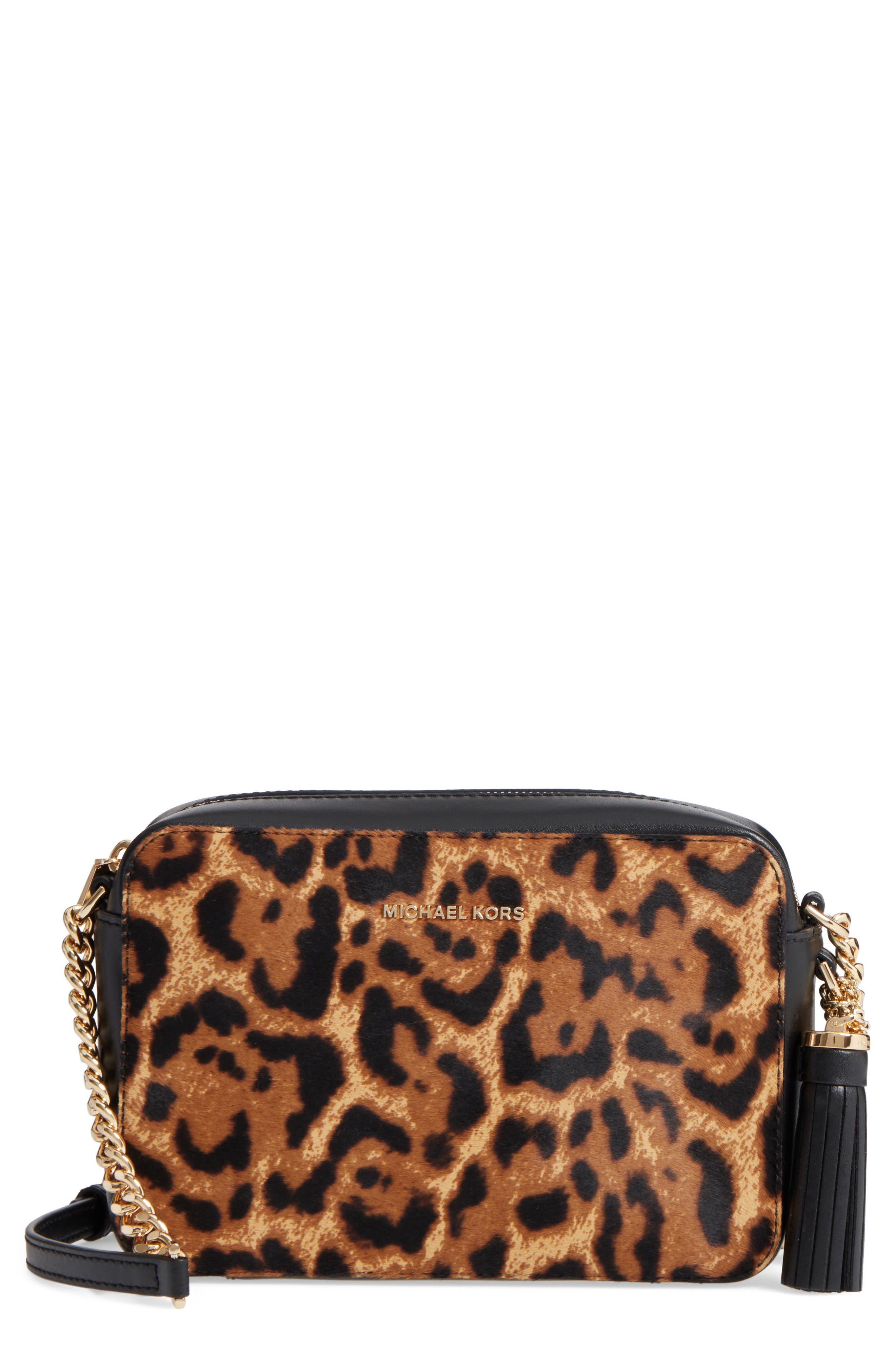 MICHAEL Michael Kors Medium Ginny Leather Camera Bag