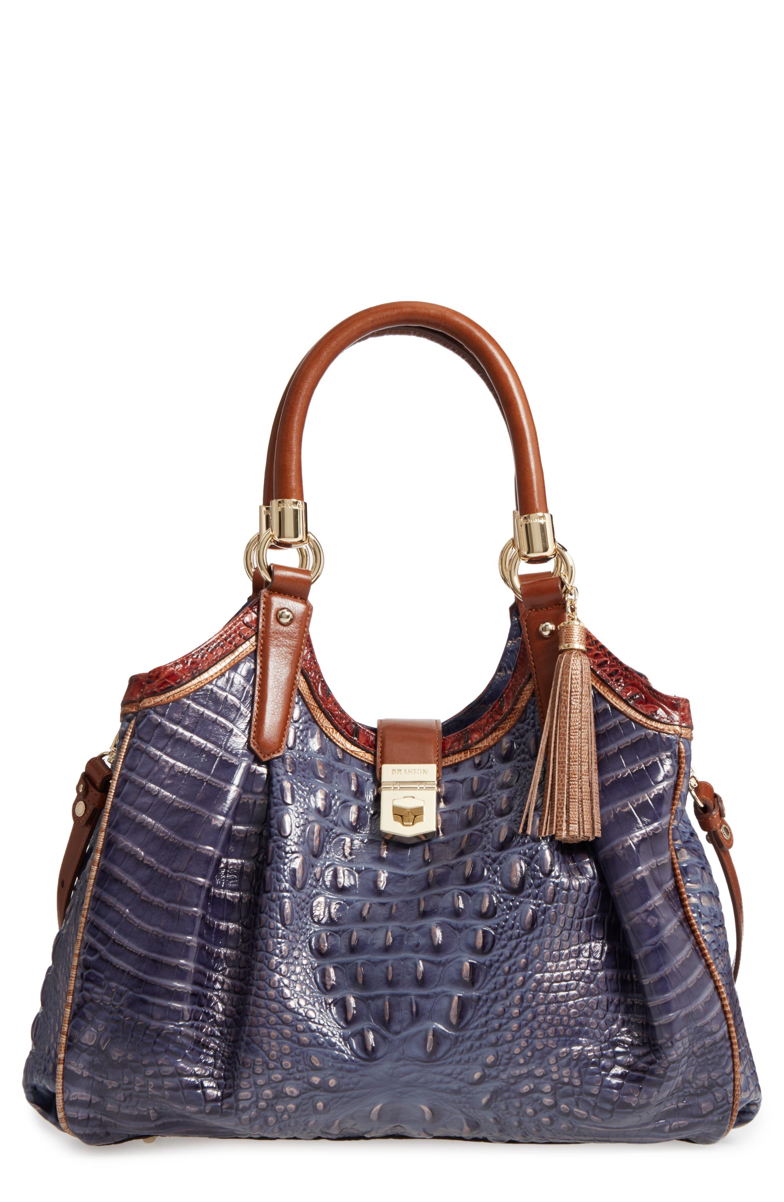 Brahmin Andesite Lucino Elisa Leather Shoulder Bag