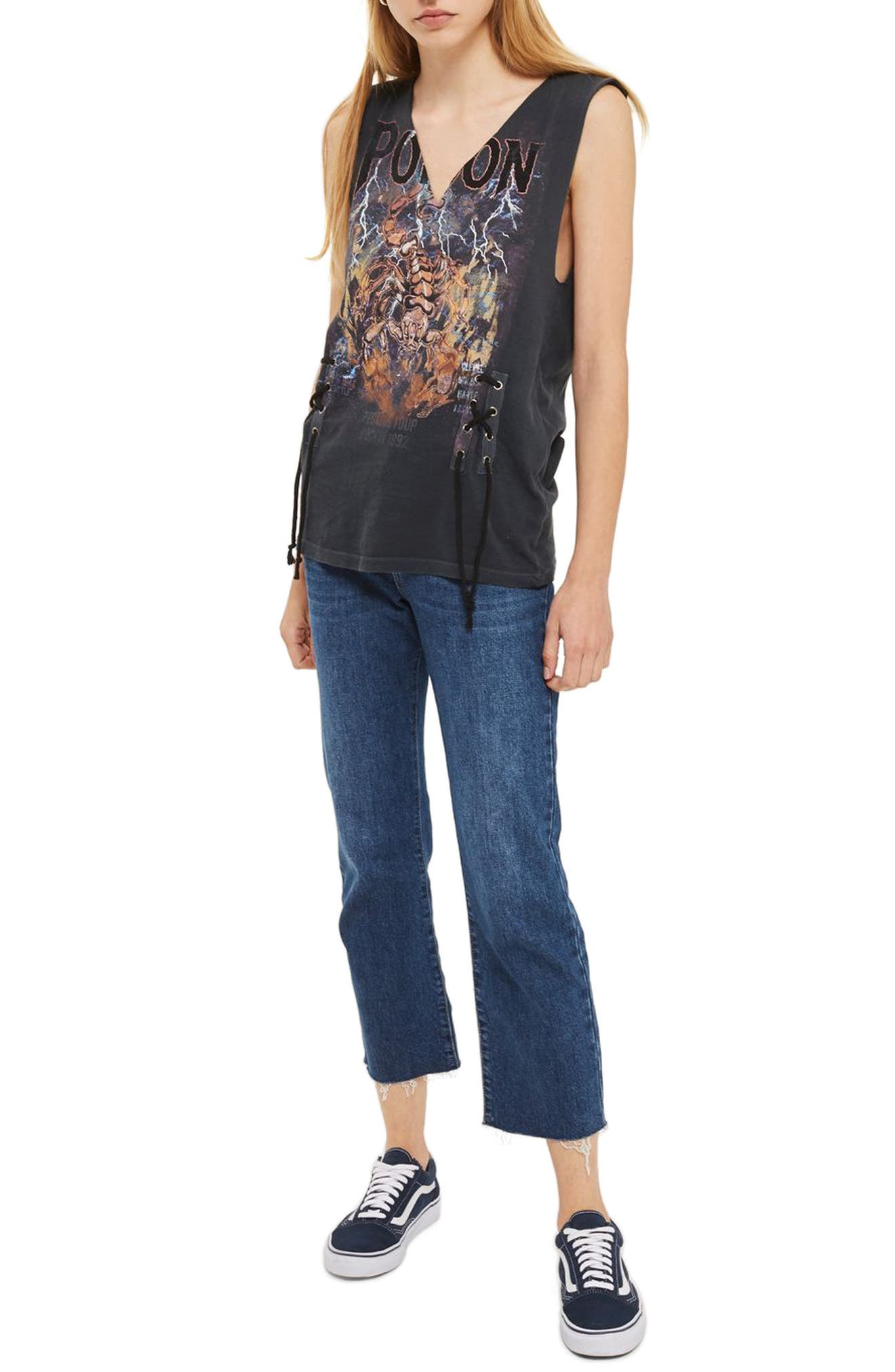 Topshop Pretty Poison Band Graphic Tee