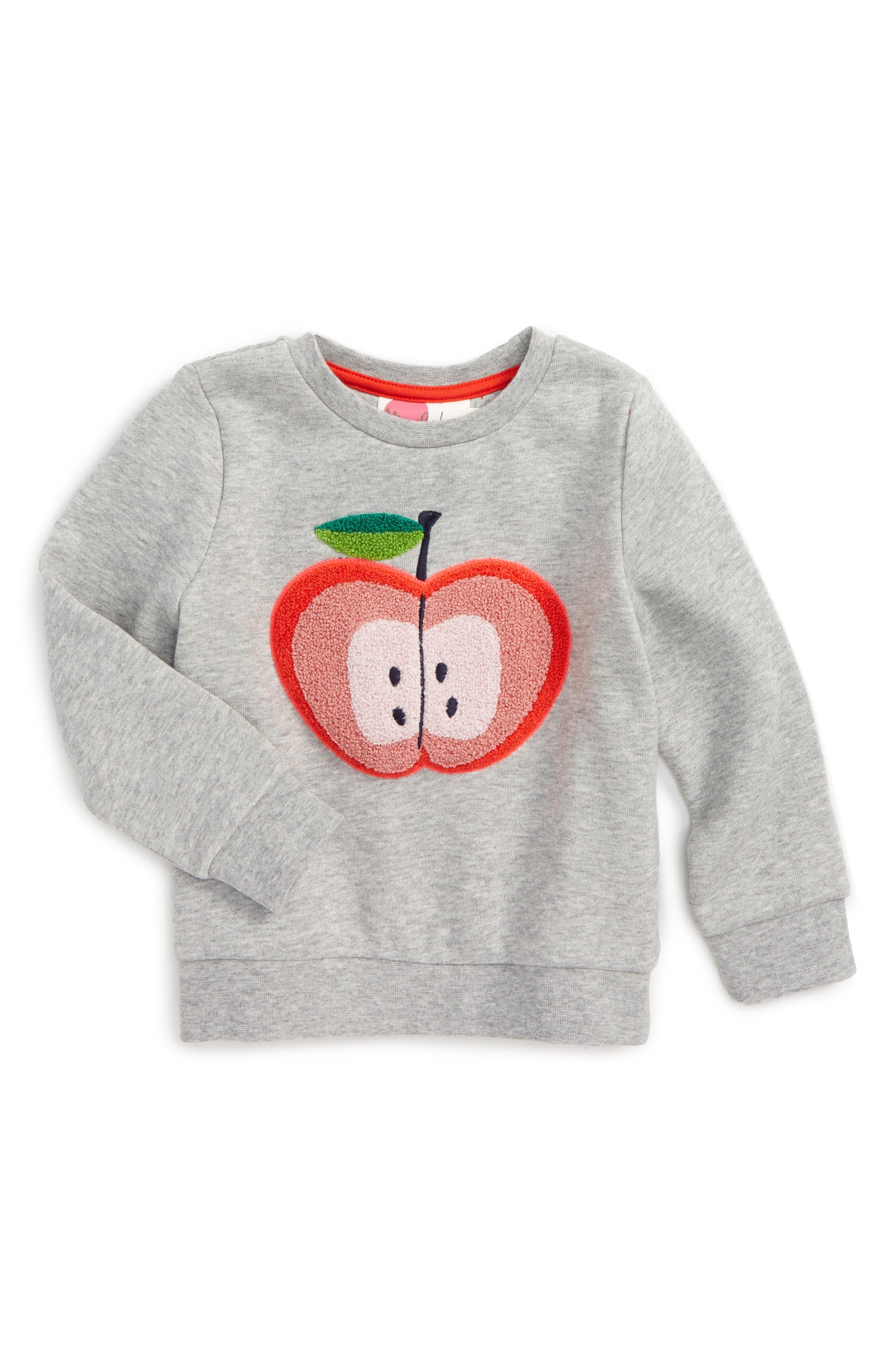 Mini Boden Bouclé Embroidered Sweatshirt (Toddler Girls, Little Girls & Big Girls)