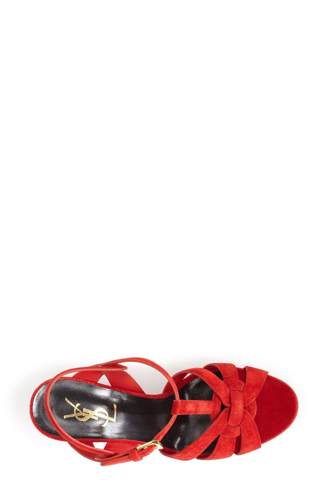 Alternate Image 3  - Saint Laurent 'Tribute' Suede Sandal (Women)