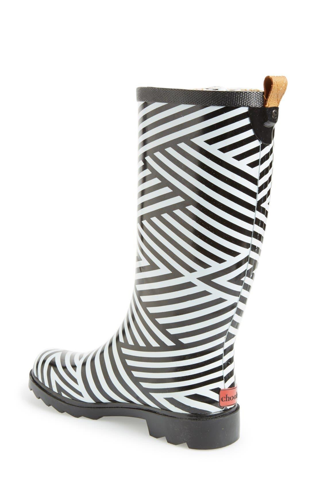Alternate Image 2  - Chooka Stripe Waterproof Rain Boot (Women)