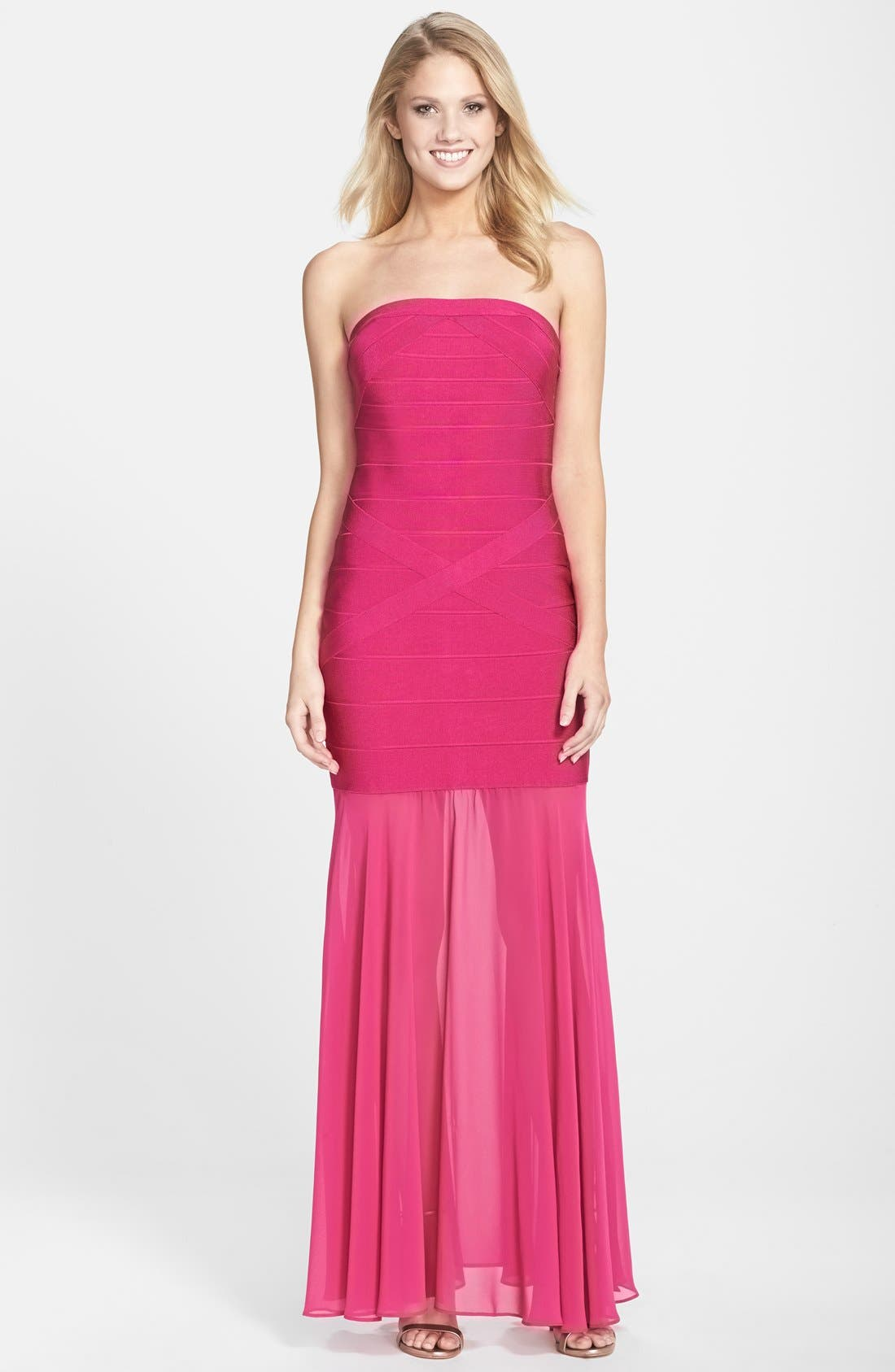 Alternate Image 1 Selected - JS Collection Drop Waist Trumpet Gown