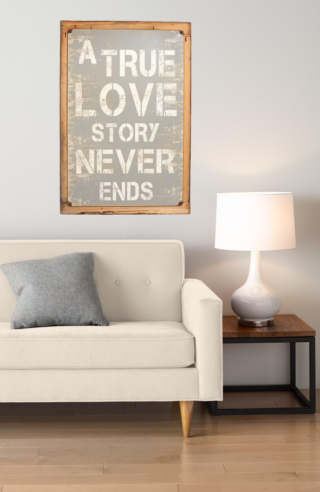 Alternate Image 2  - Poncho & Goldstein 'True Love Story' Sign