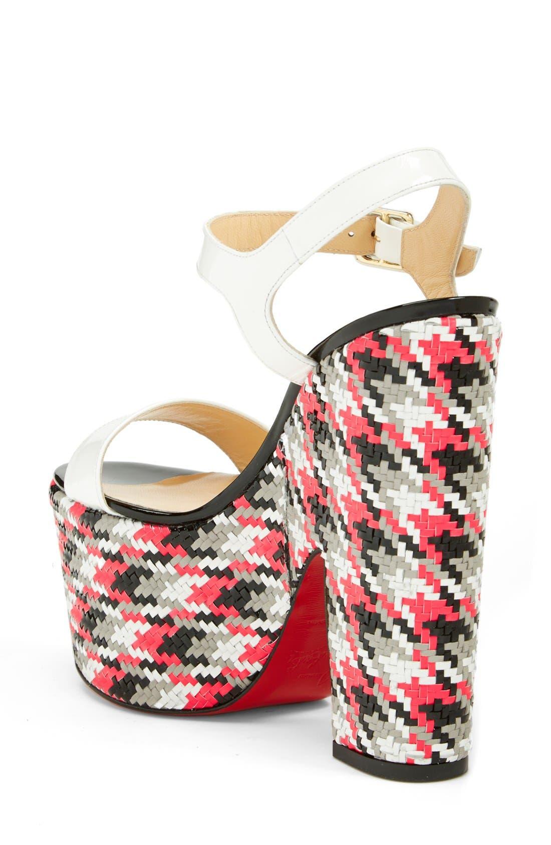 Alternate Image 2  - Christian Louboutin 'Bella' Plaid Platform Sandal