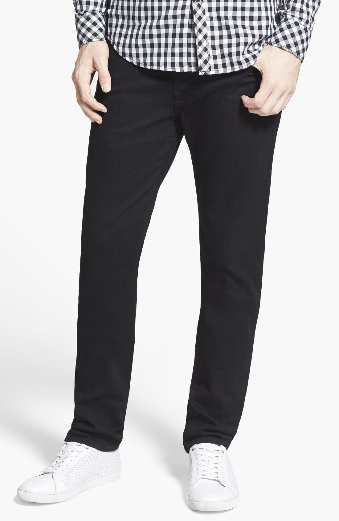 True Religion Brand Jeans 'Rocco' Slim Fit Jeans (Midnight Black)