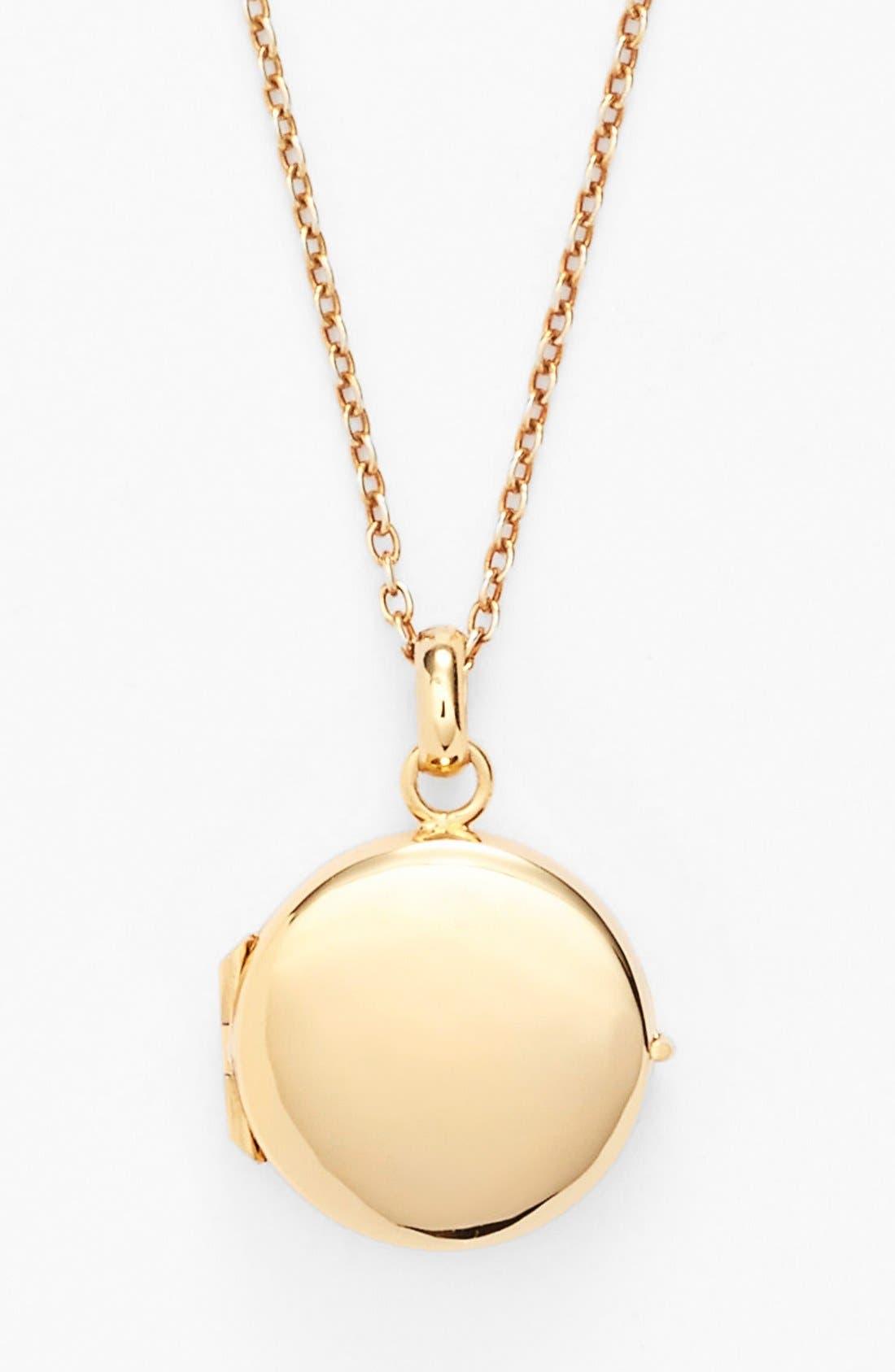 Main Image - Argento Vivo Circle Locket Necklace