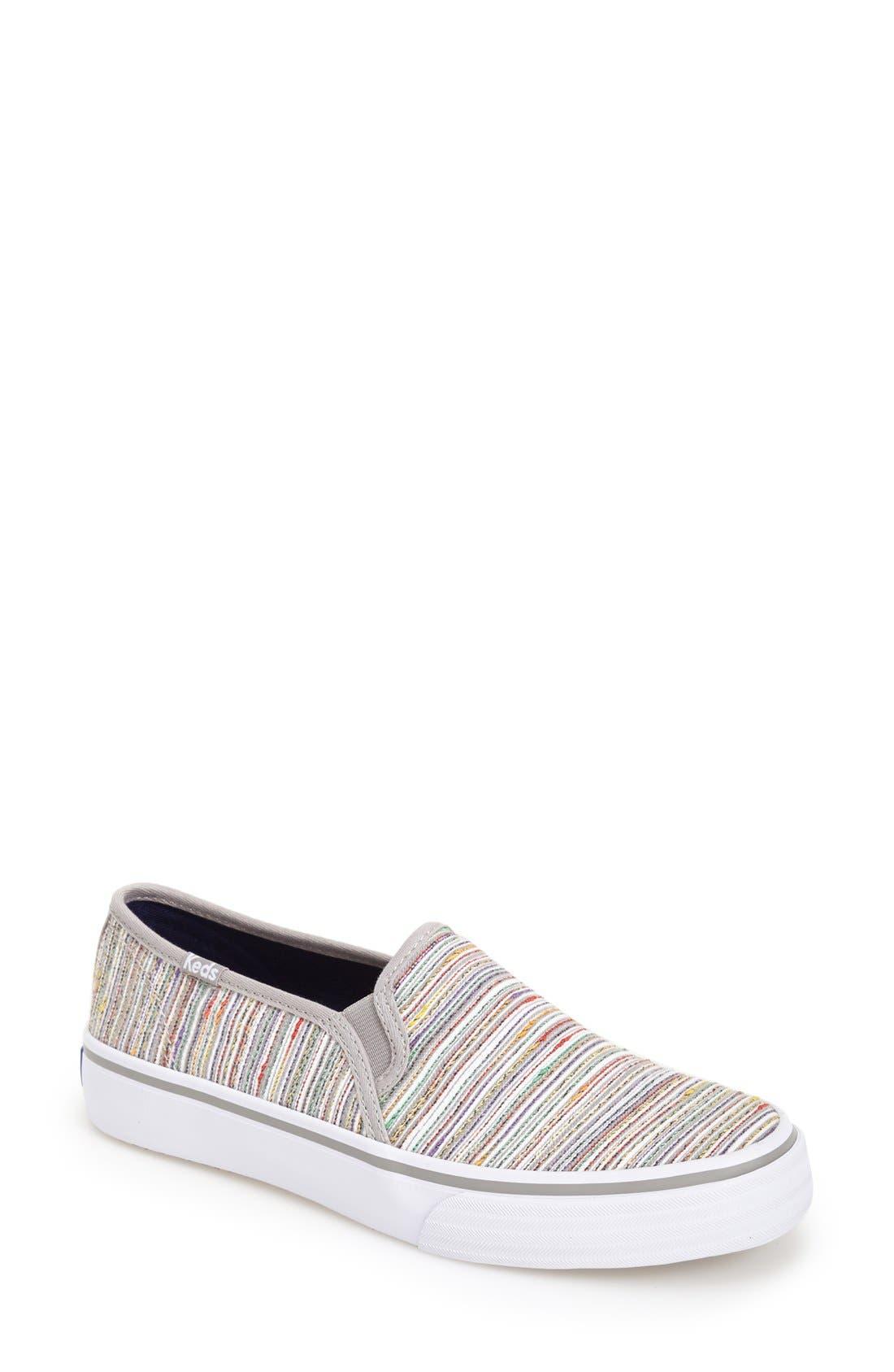 Main Image - Keds® 'Double Decker - Woven Stripe' Slip-On Sneaker (Women)