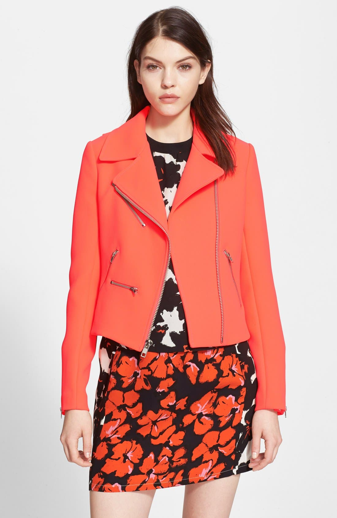 Main Image - A.L.C. 'Ekberg' Double Face Scuba Knit Moto Jacket