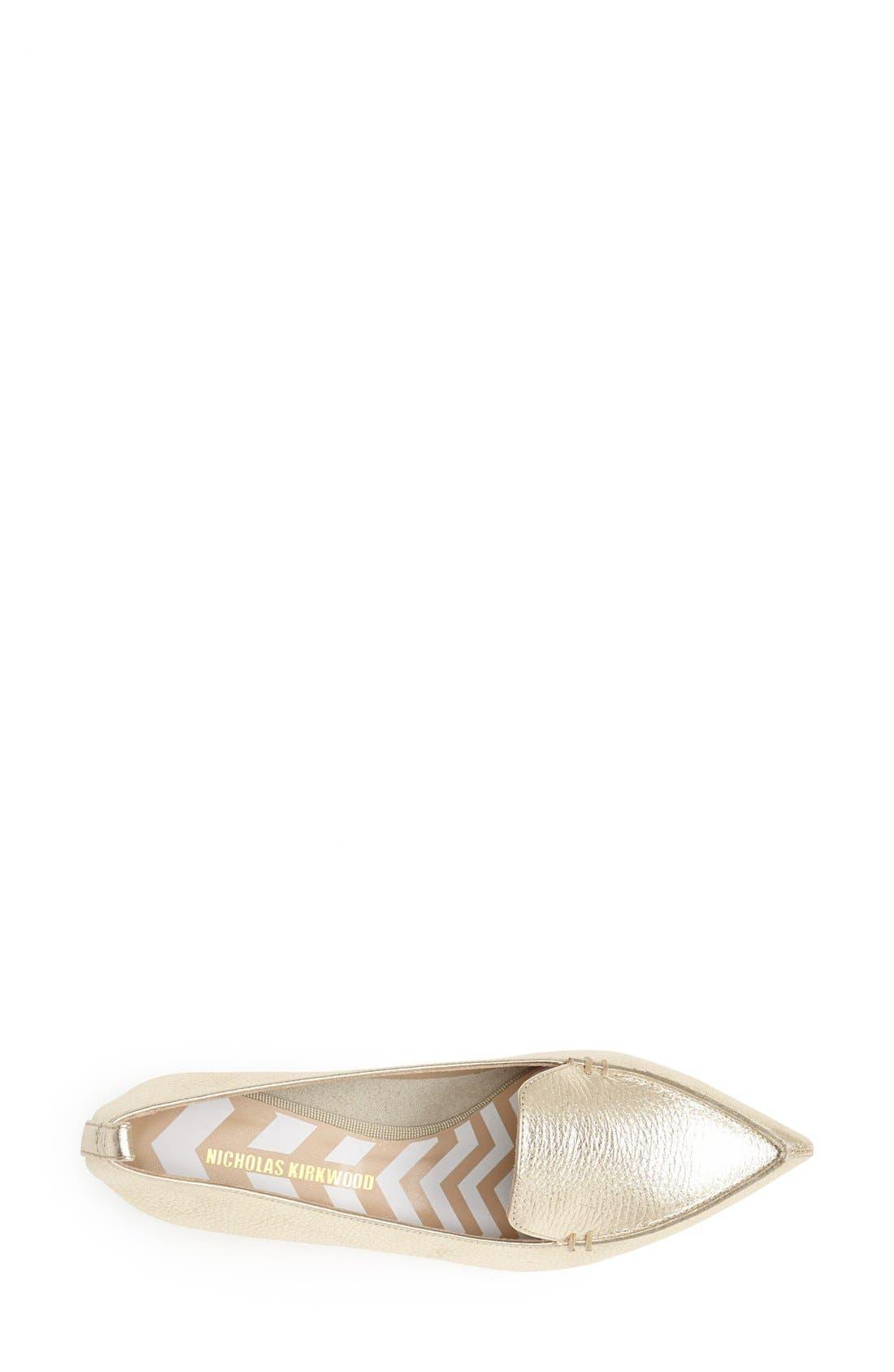 Alternate Image 3  - Nicholas Kirkwood Pointed Toe Loafer (Women)