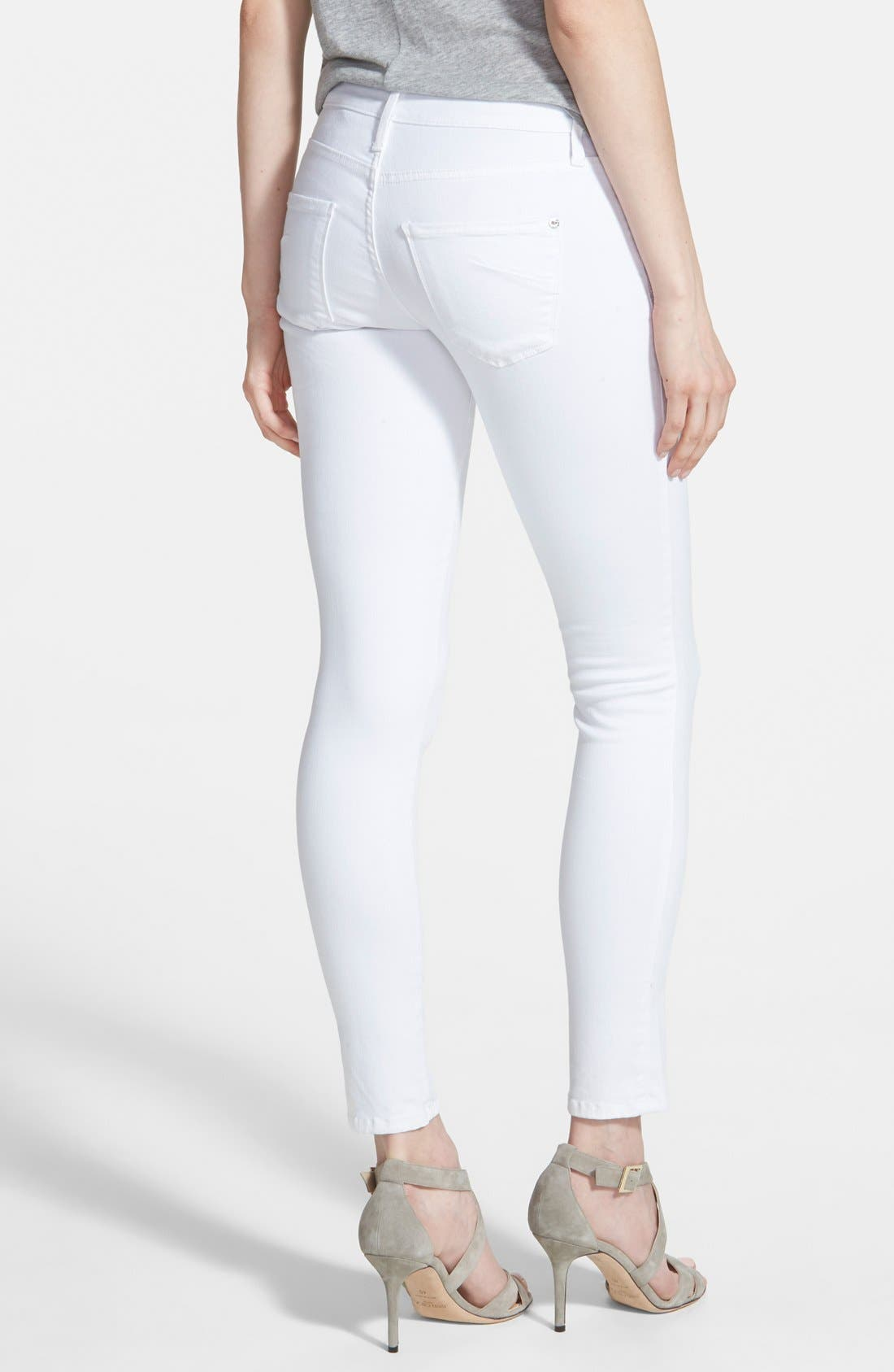 Alternate Image 2  - James Jeans 'Twiggy' Exposed Zip Skinny Jeans (White Clean)