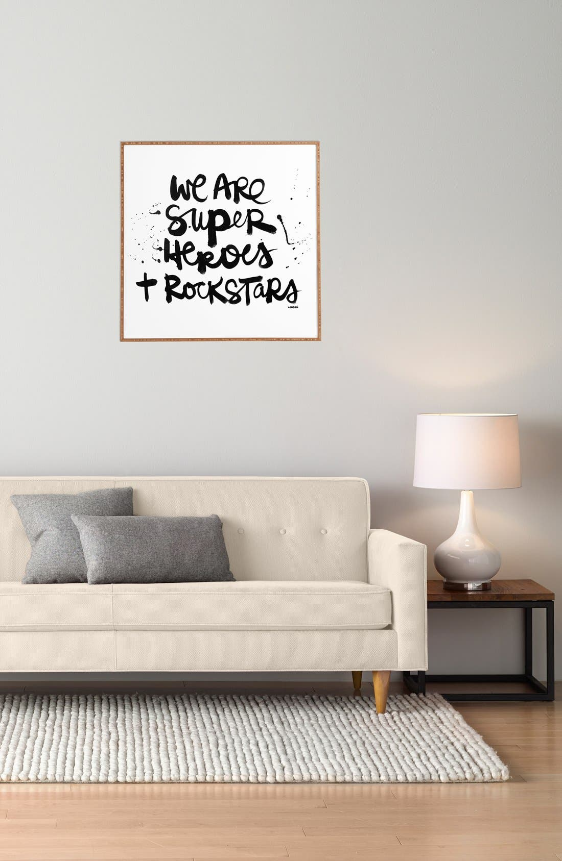 Alternate Image 2  - DENY Designs 'Kal Barteski - We Are Superheroes & Rock Stars ' Wall Art