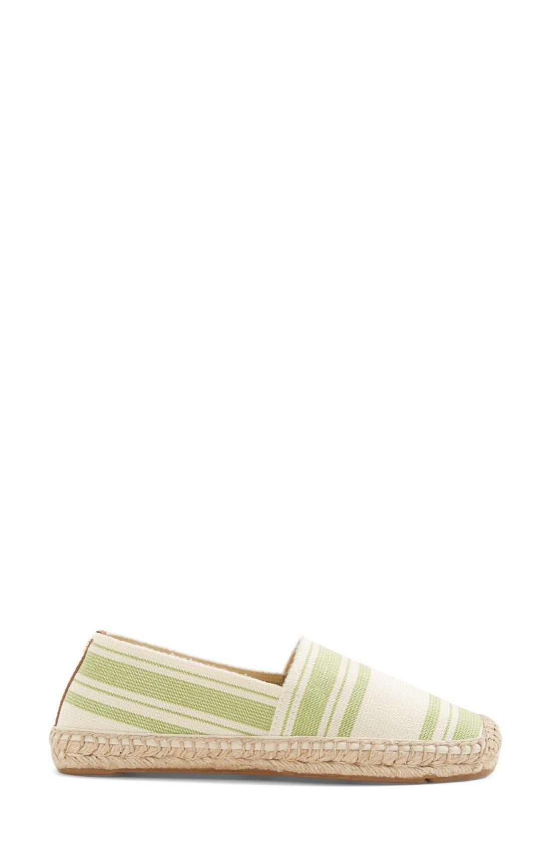Alternate Image 2  - Tory Burch Stripe Espadrille Flat (Women)
