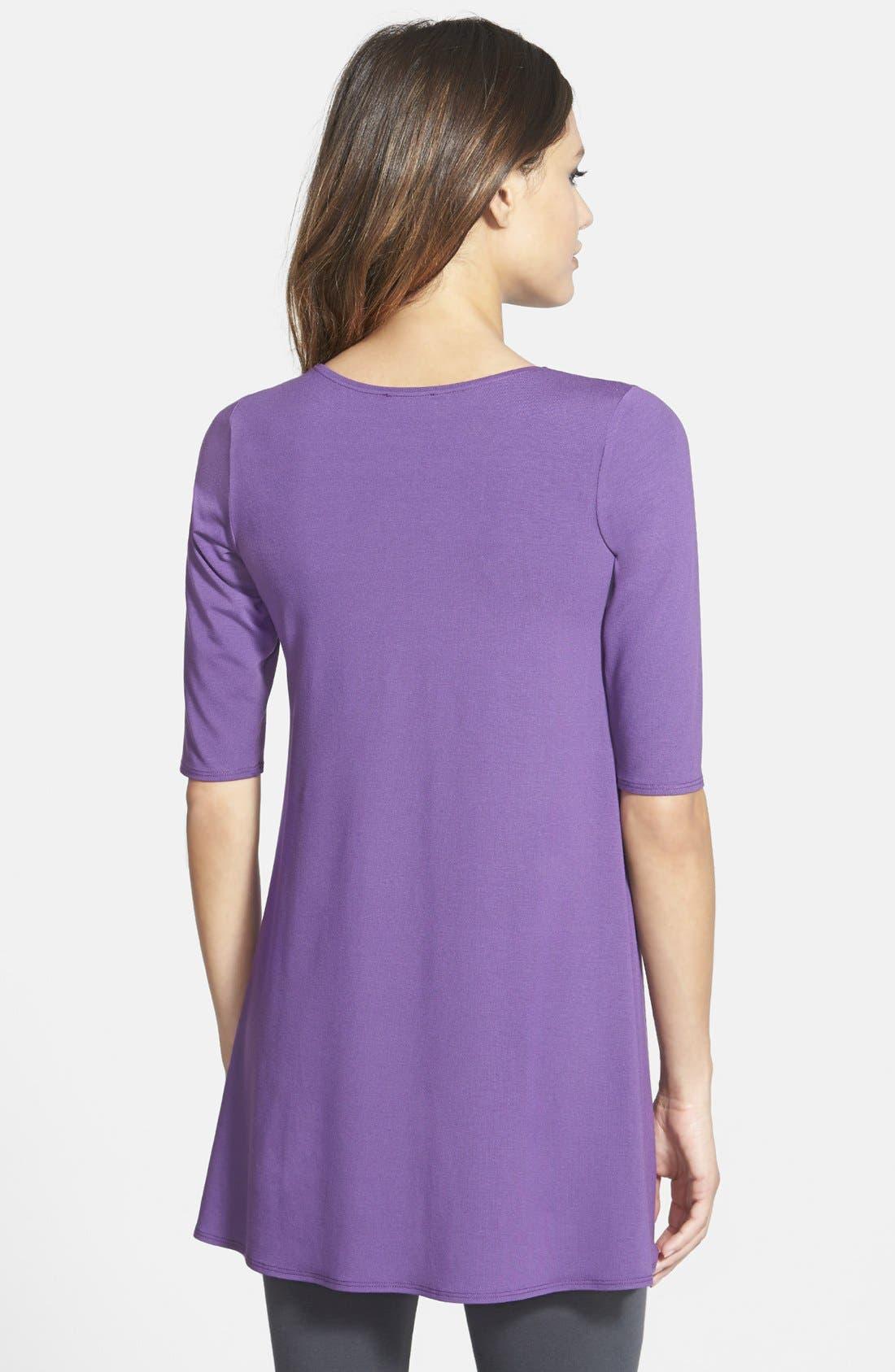 Alternate Image 2  - Eileen Fisher Elbow Sleeve Tunic (Regular & Petite)