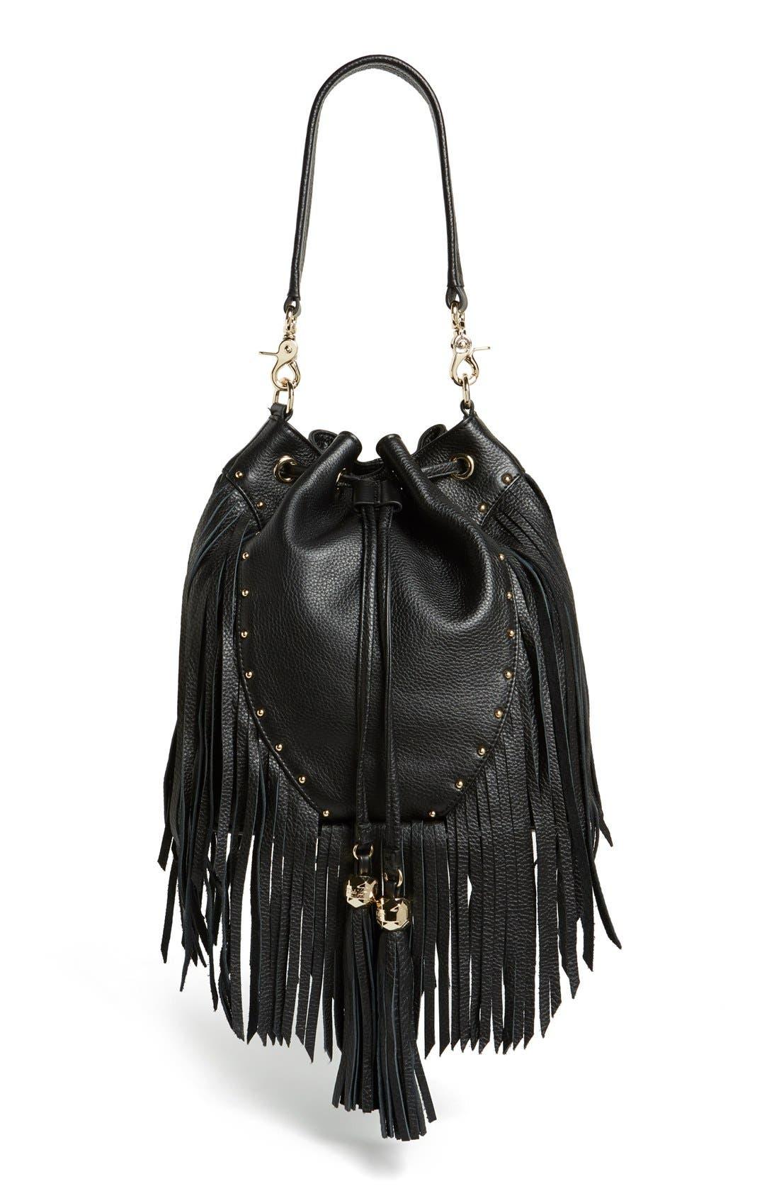 Alternate Image 1 Selected - Dolce Vita 'Amber' Fringe Leather Backpack