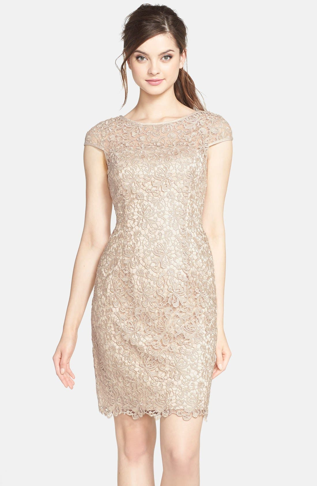 Alternate Image 1  - Adrianna Papell Lace Shift Dress