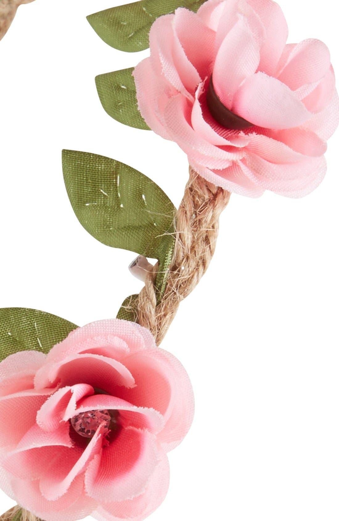 Alternate Image 2  - Capelli of New York Floral Garland Jute Headband