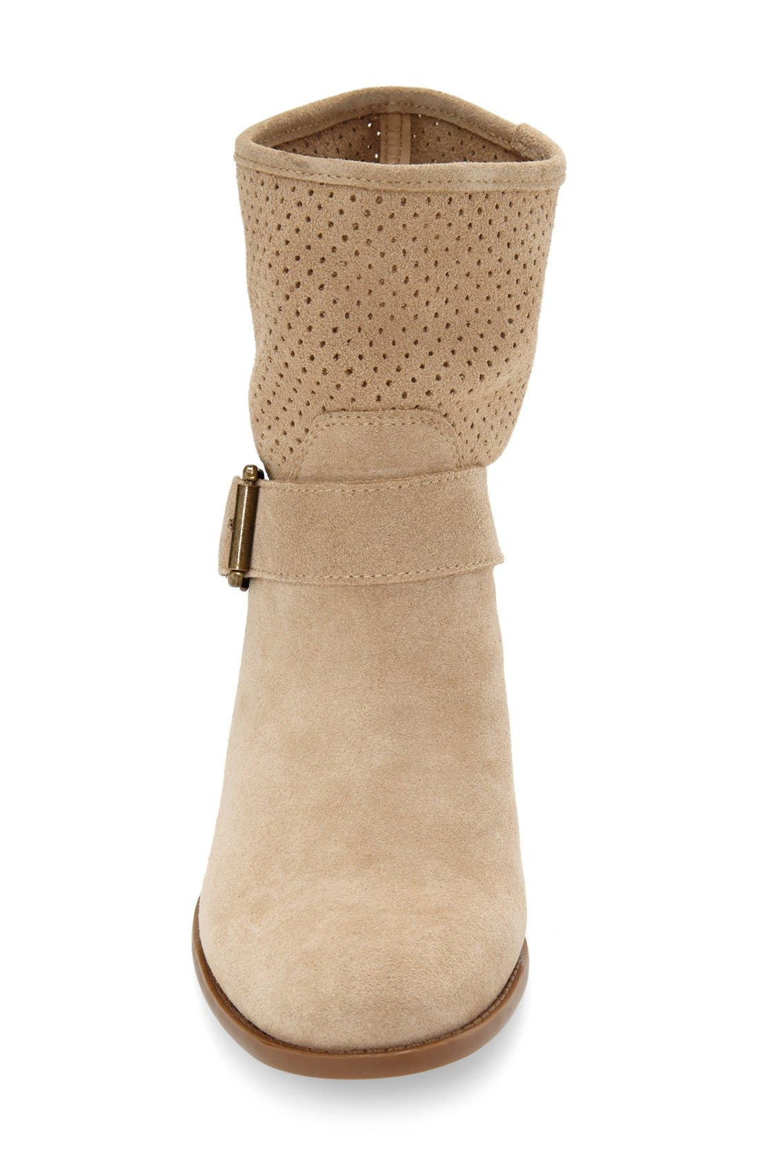 Alternate Image 3  - Sole Society 'Sola' Perforated Suede Western Bootie (Women)
