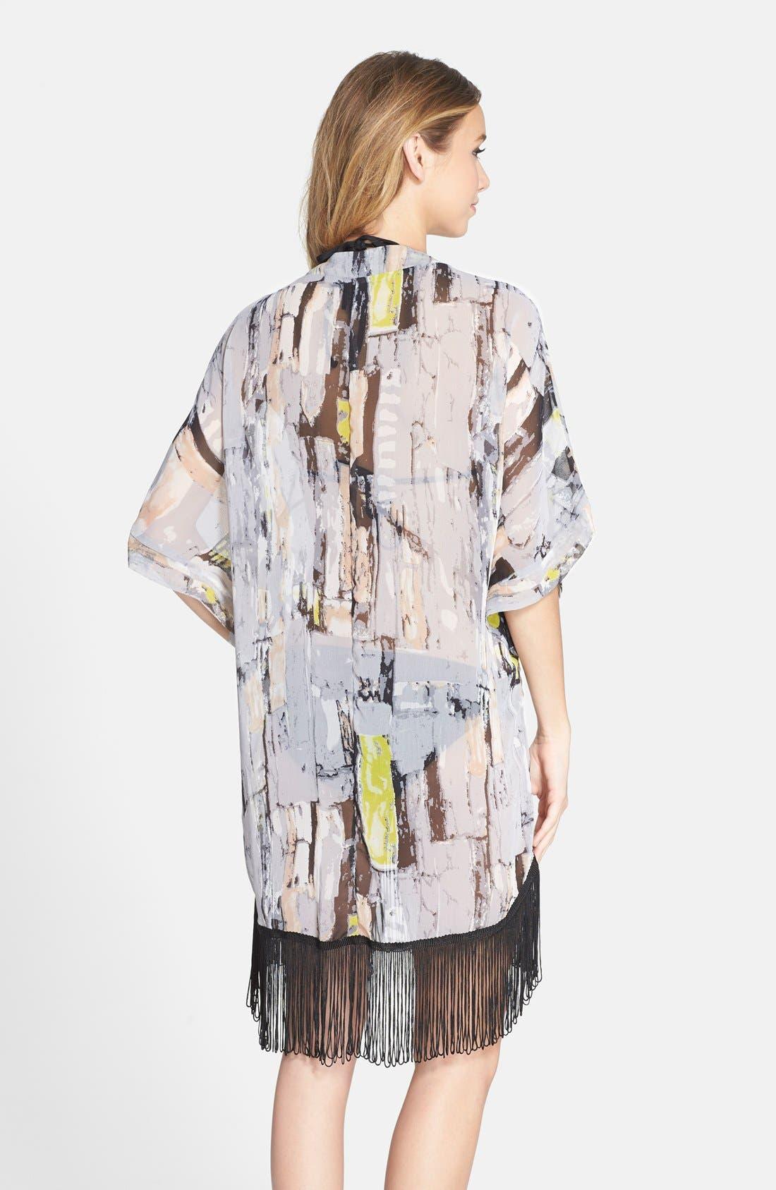 Alternate Image 2  - Steve Madden Animal Print Kimono