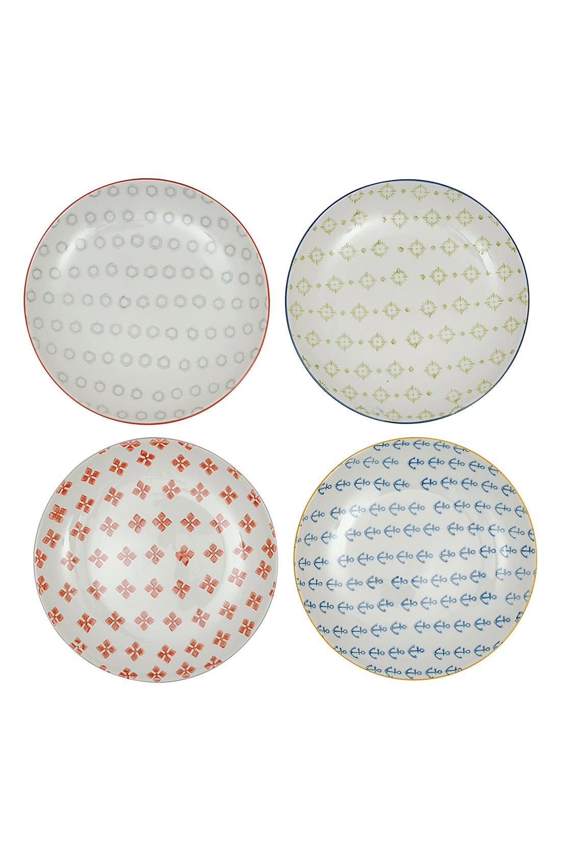 Alternate Image 1 Selected - Creative Co-Op Ceramic Plate (Set of 4)