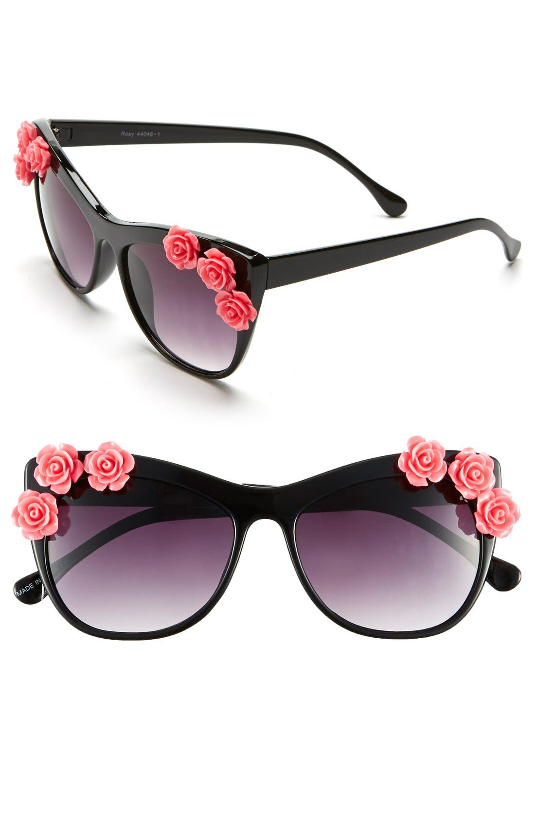 Main Image - BP. 55mm Flower Embellished Sunglasses