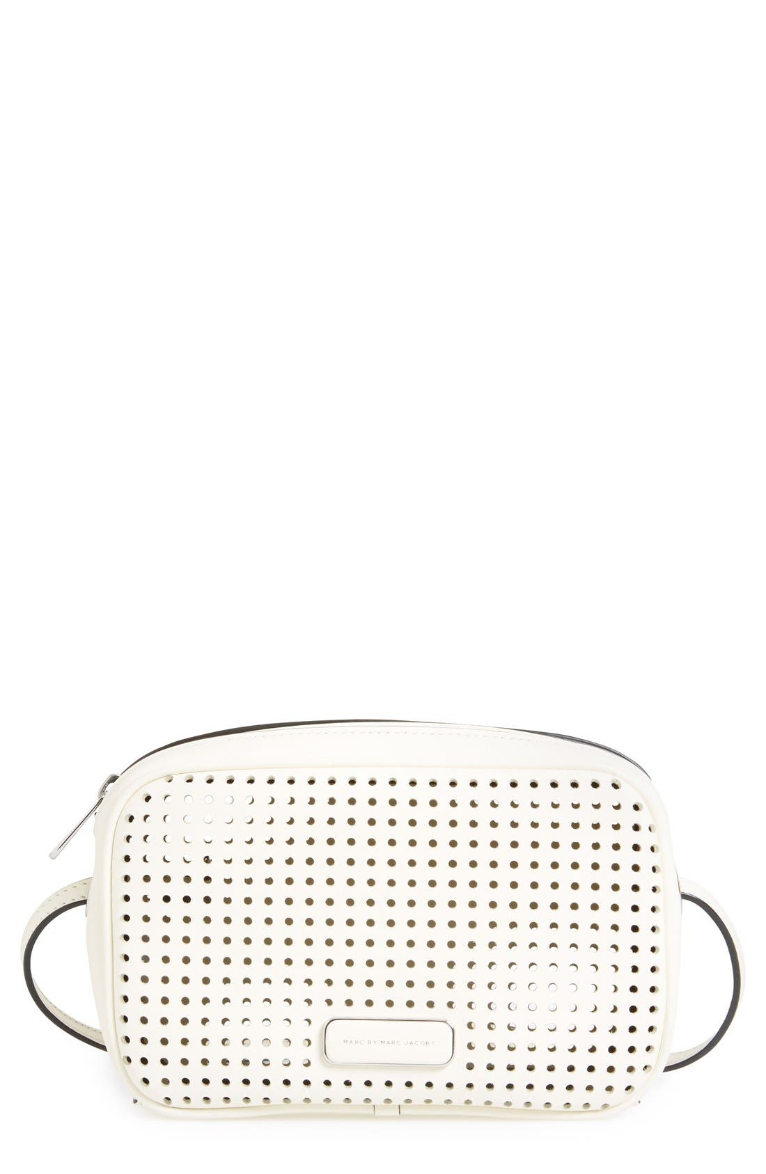 Alternate Image 1 Selected - MARC BY MARC JACOBS 'Sally' Perforated Crossbody Bag