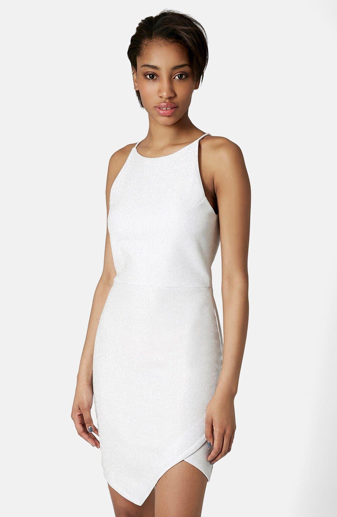 Main Image - Topshop Tinsel Wrap Dress