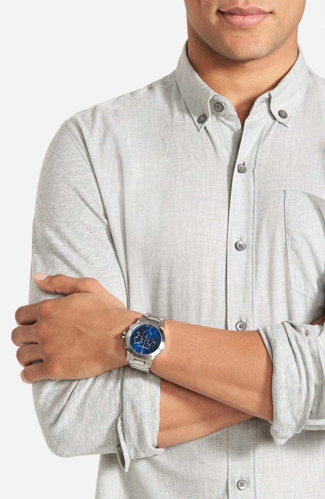 Alternate Image 5  - Burberry Check Stamped Chronograph Bracelet Watch, 42mm